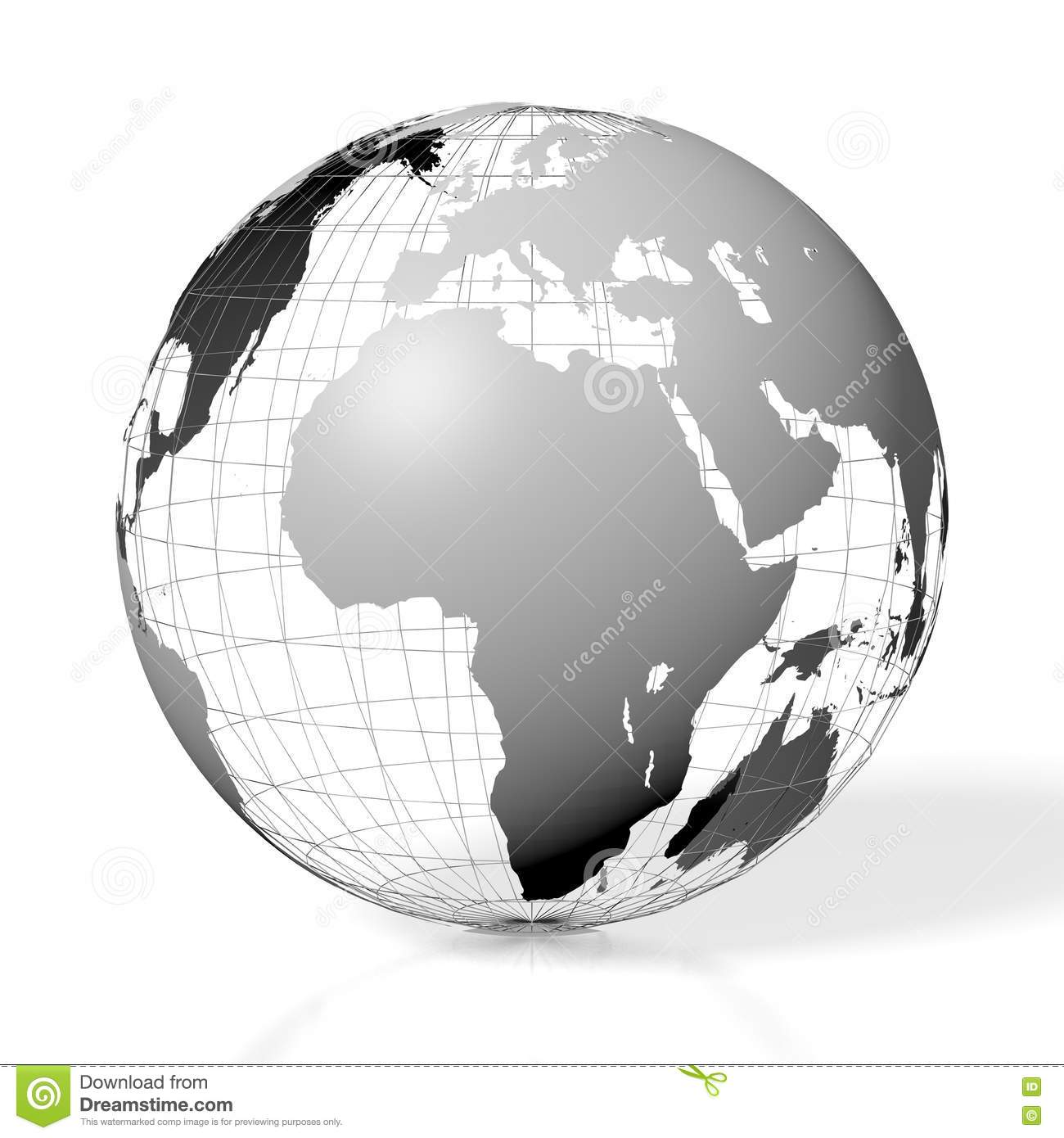 3d Earth World Map Stock Illustration Illustration Of Middle