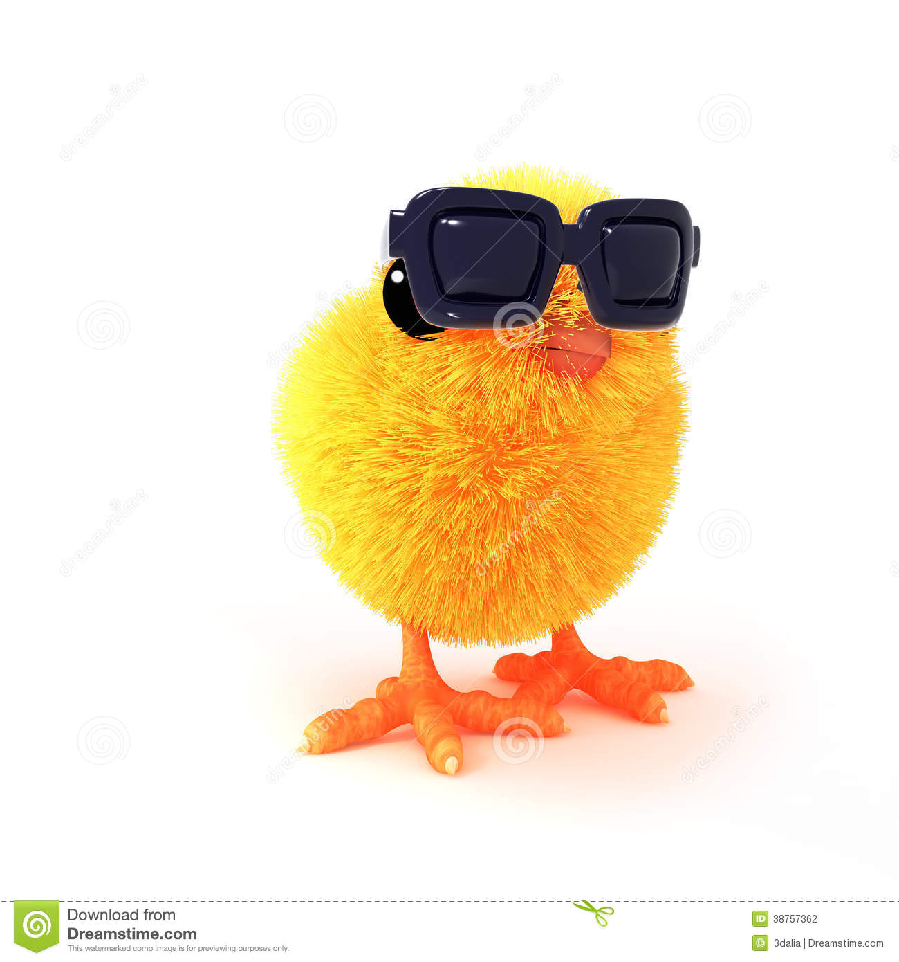 3d Easter chick looks cool