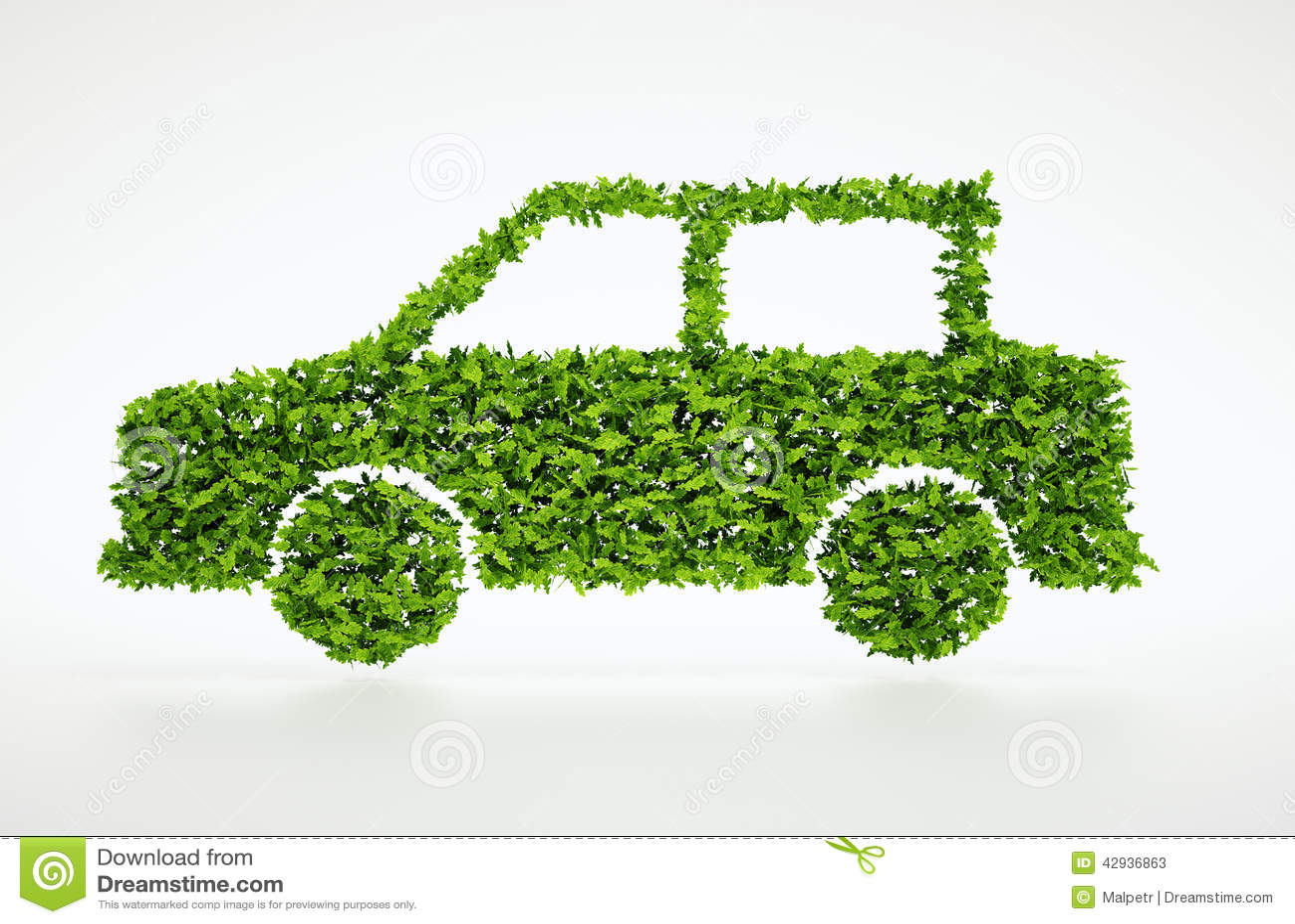 3d ekologii samochodu symbol