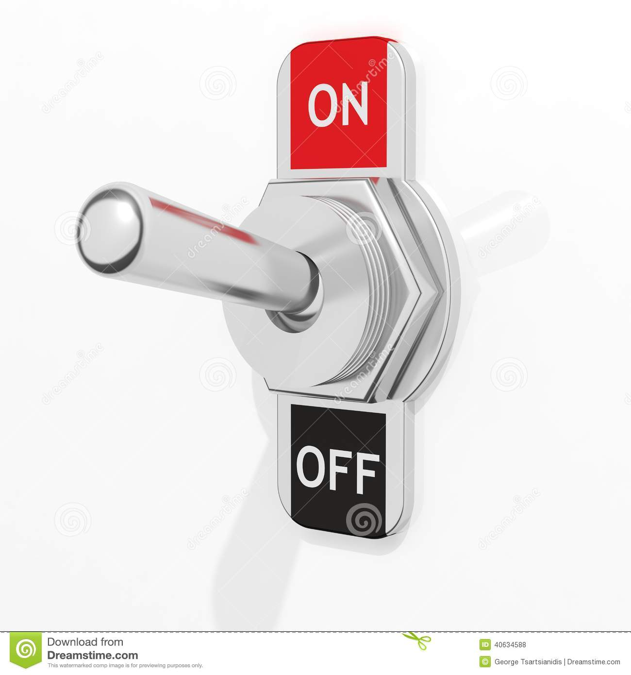3d element on off switch stock illustration illustration of part