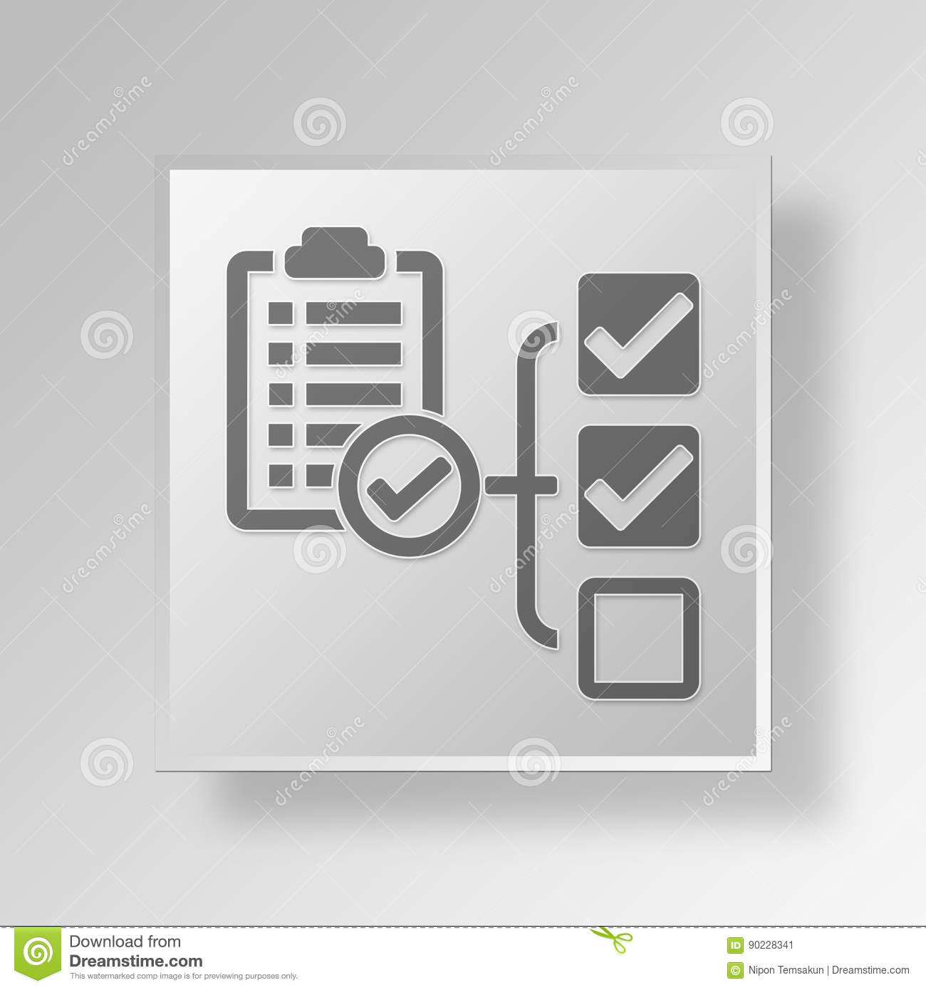 3D End Project Report Button Icon Concept Stock Illustration ...