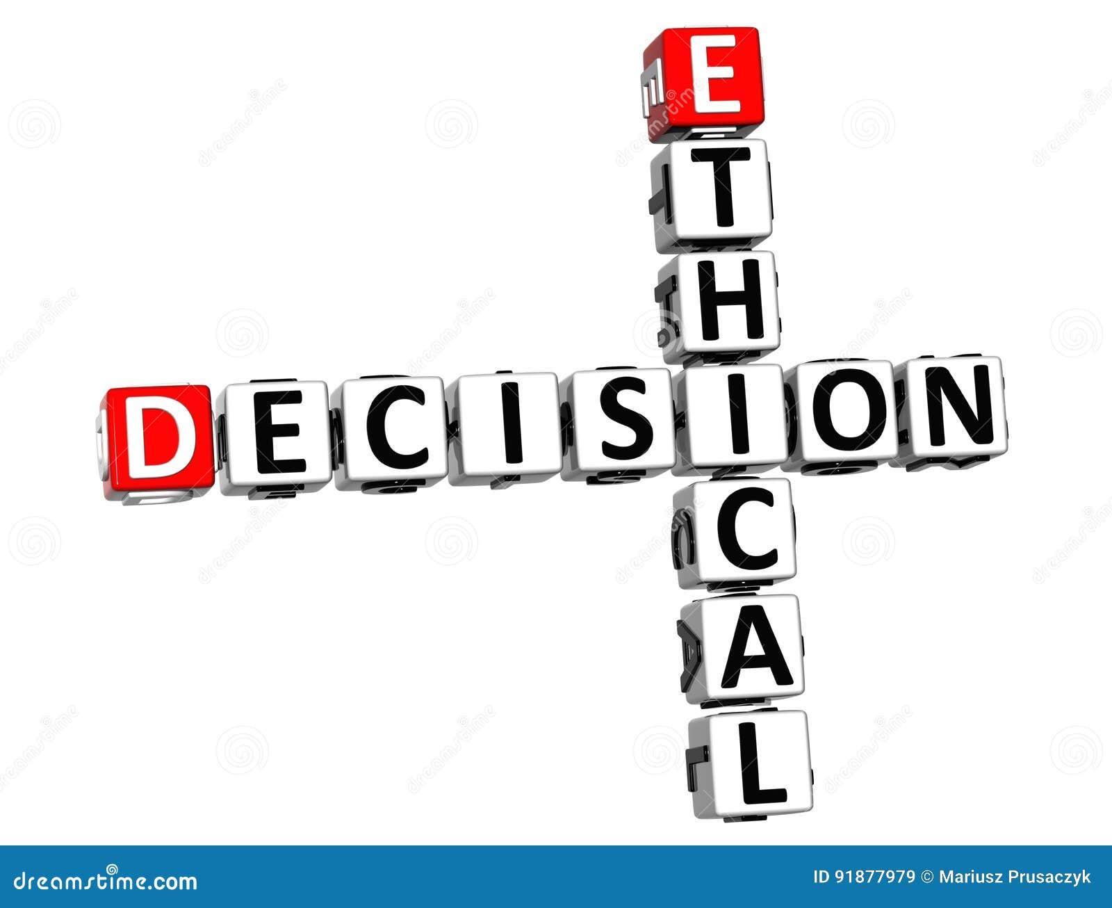 3D Ethical Decision Crossword Stock Illustration - Illustration of