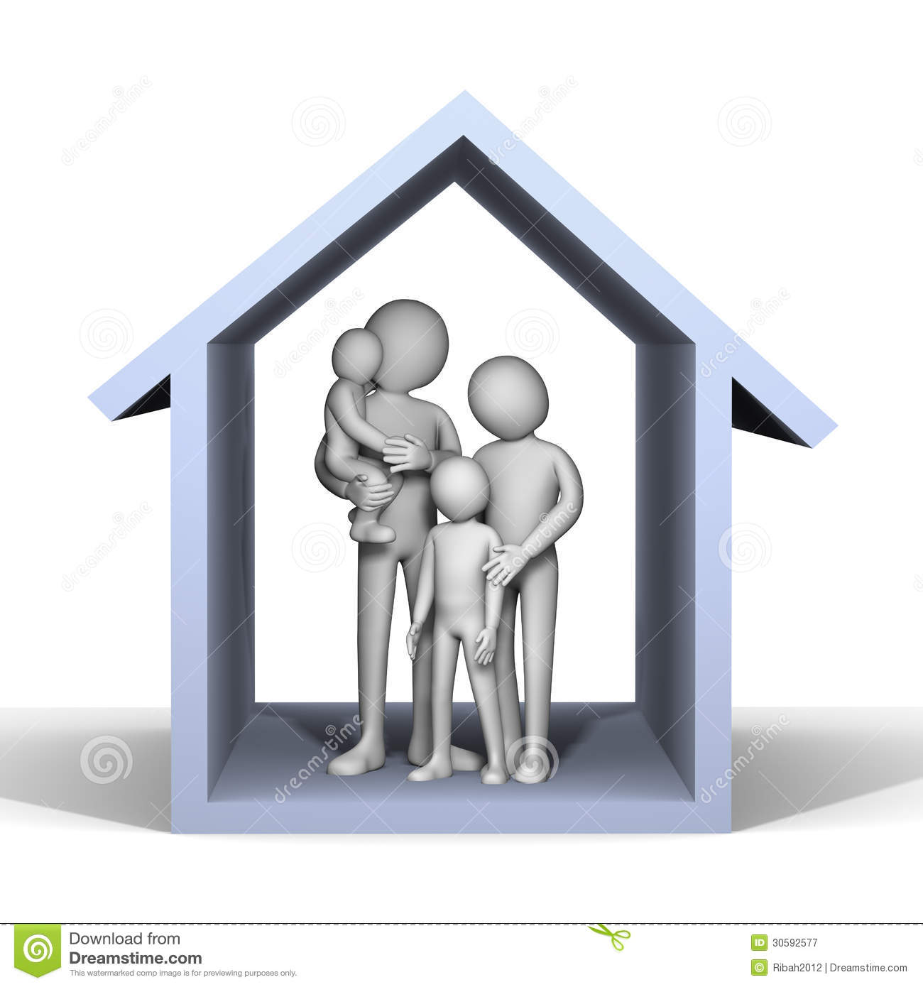 Free Software For You Free Download Sweet Home 3d: 3d Family In House Stock Illustration. Illustration Of