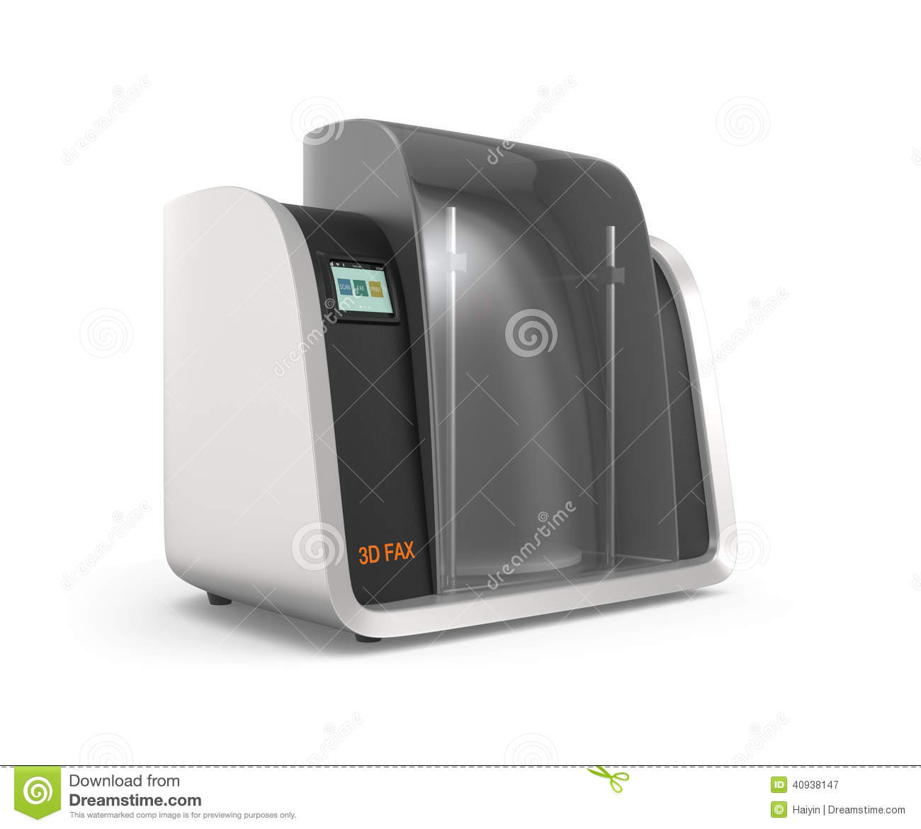 3D Fax Concept Stock Illustration. Image Of Facsimile