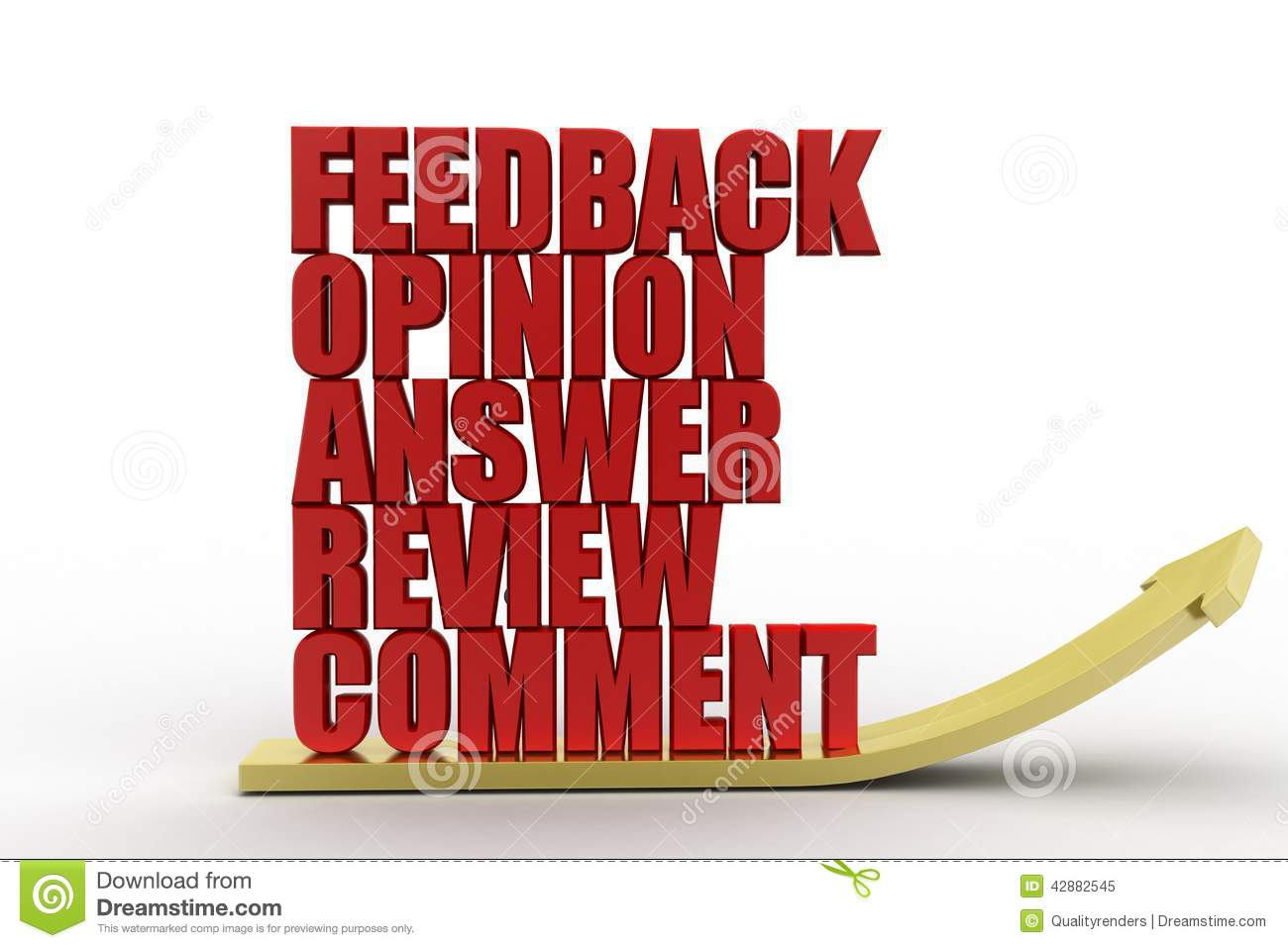 3d Feedback Opinion Answers Review Comment Illustration ...