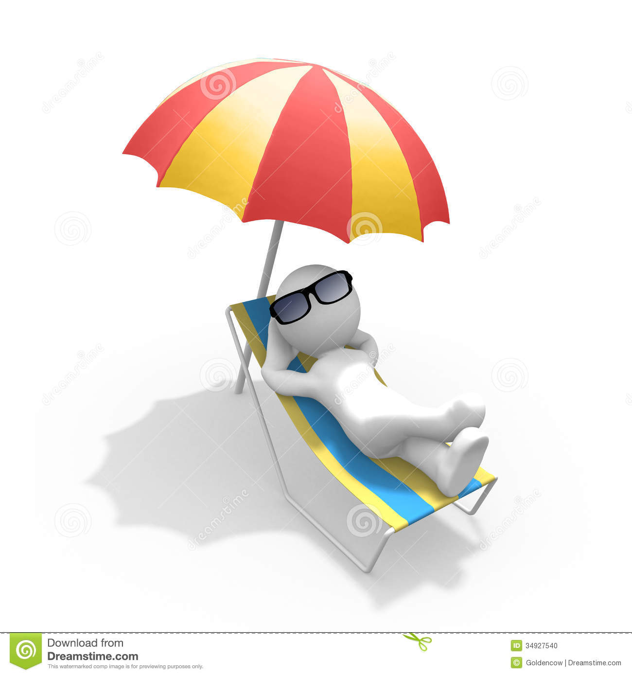 3d Figure On Holiday Stock Illustration Image Of Chair