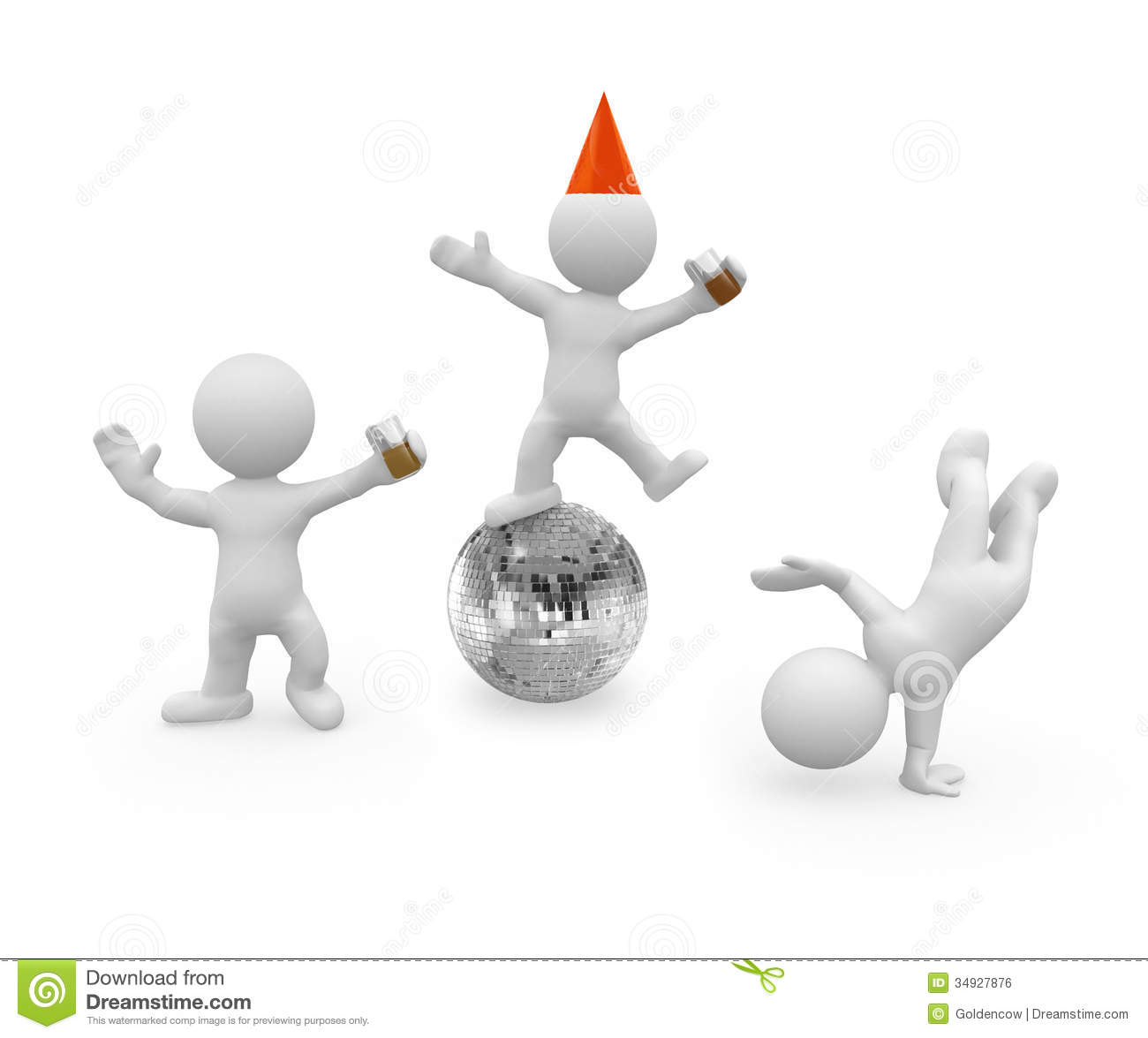 3d Figures Are Having A Big Party Royalty Free Stock Image - Image ...