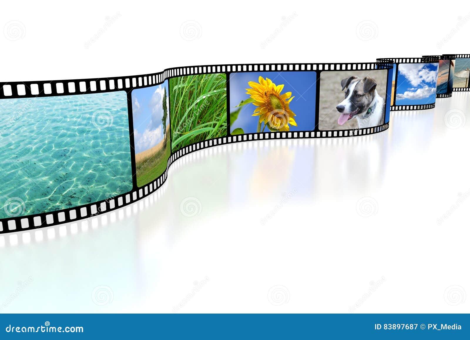 3D film tape stock illustration  Illustration of photo