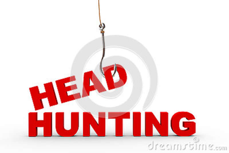 3d fishing hook and headhunting concept