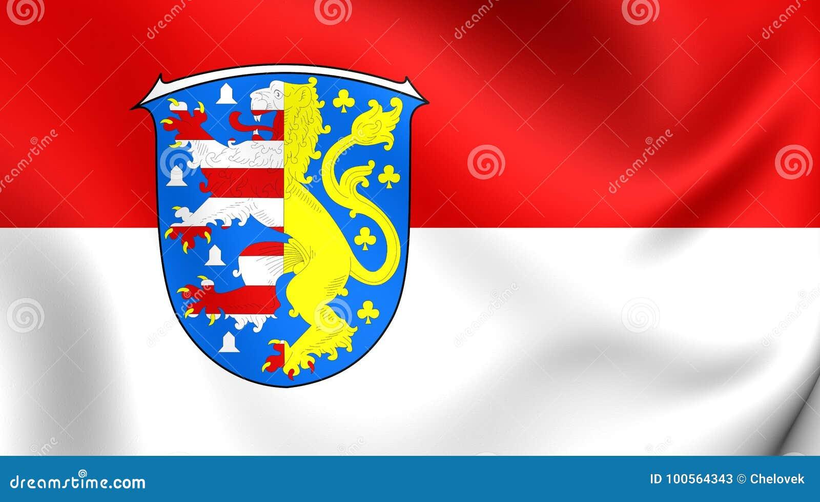 Flag Of Hochtaunuskreis Germany Stock Illustration Illustration