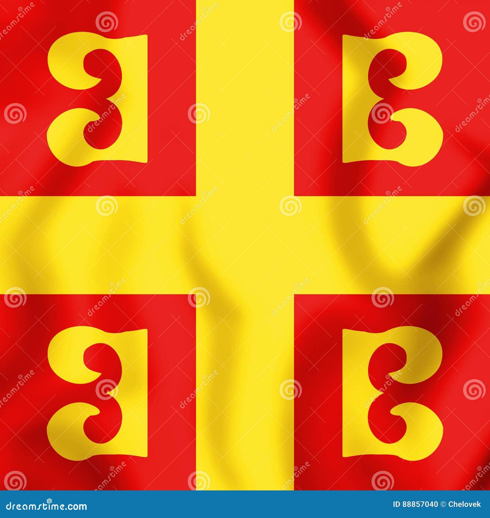 3D flaga Bizantyjski imperium