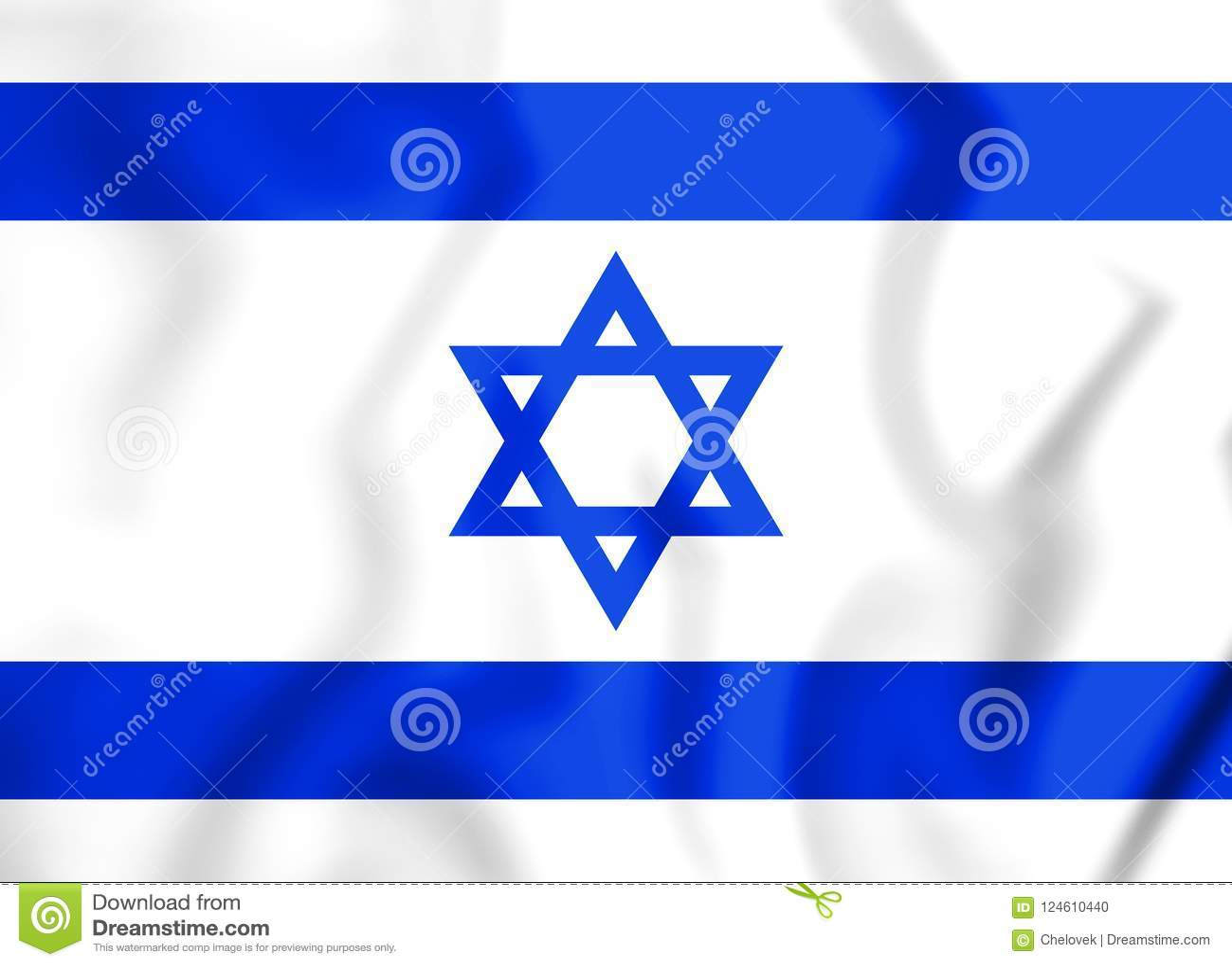 3d flagga israel