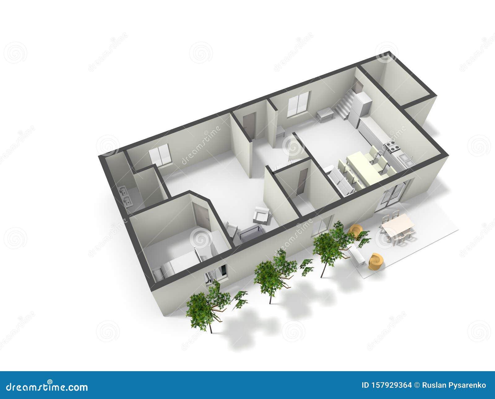 3d Floor Plan Black White Floor Plan Stock Illustration Illustration Of Money Loan 157929364