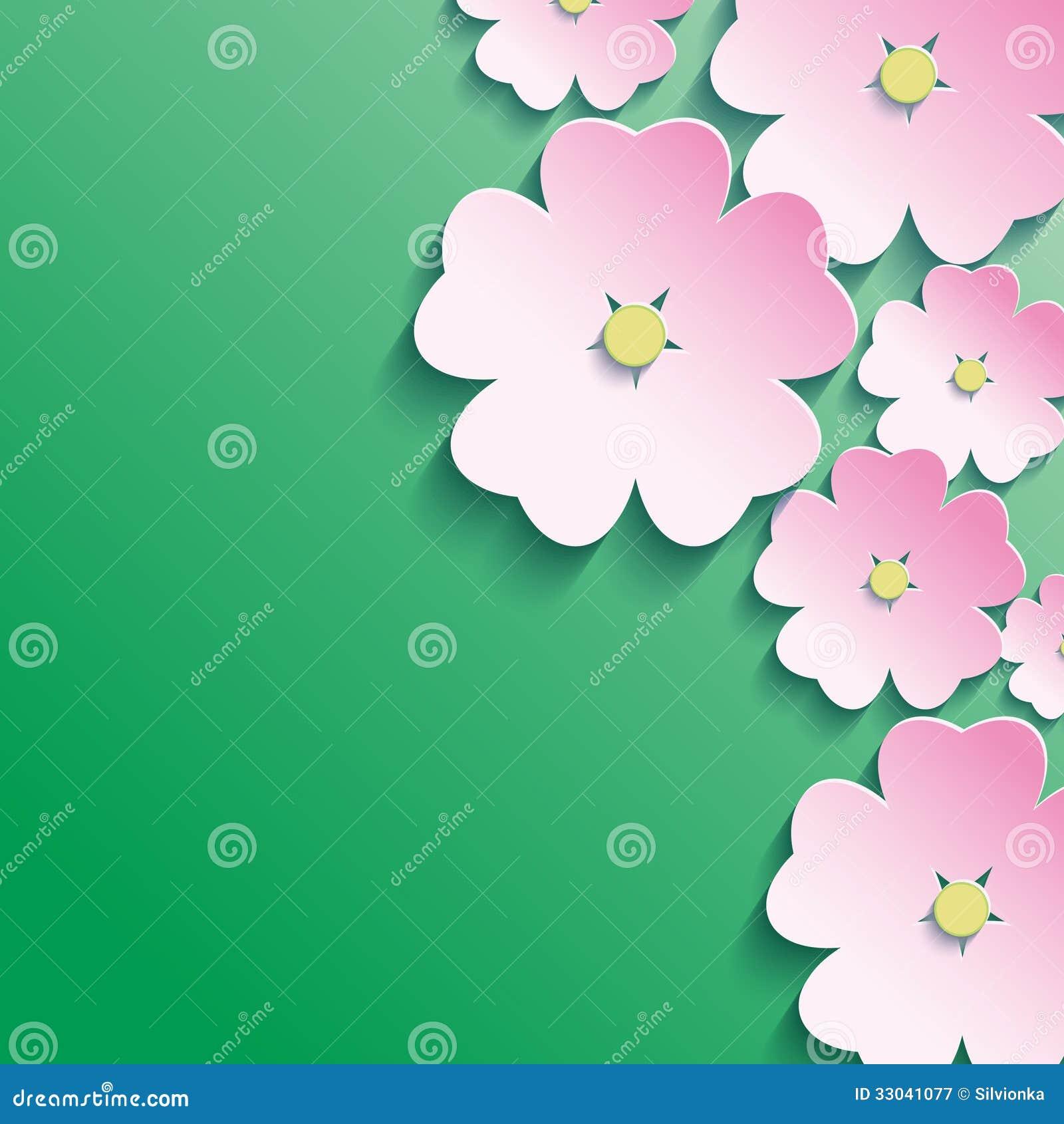 Modern Flower Clip Art 3d flowers, abstract floral
