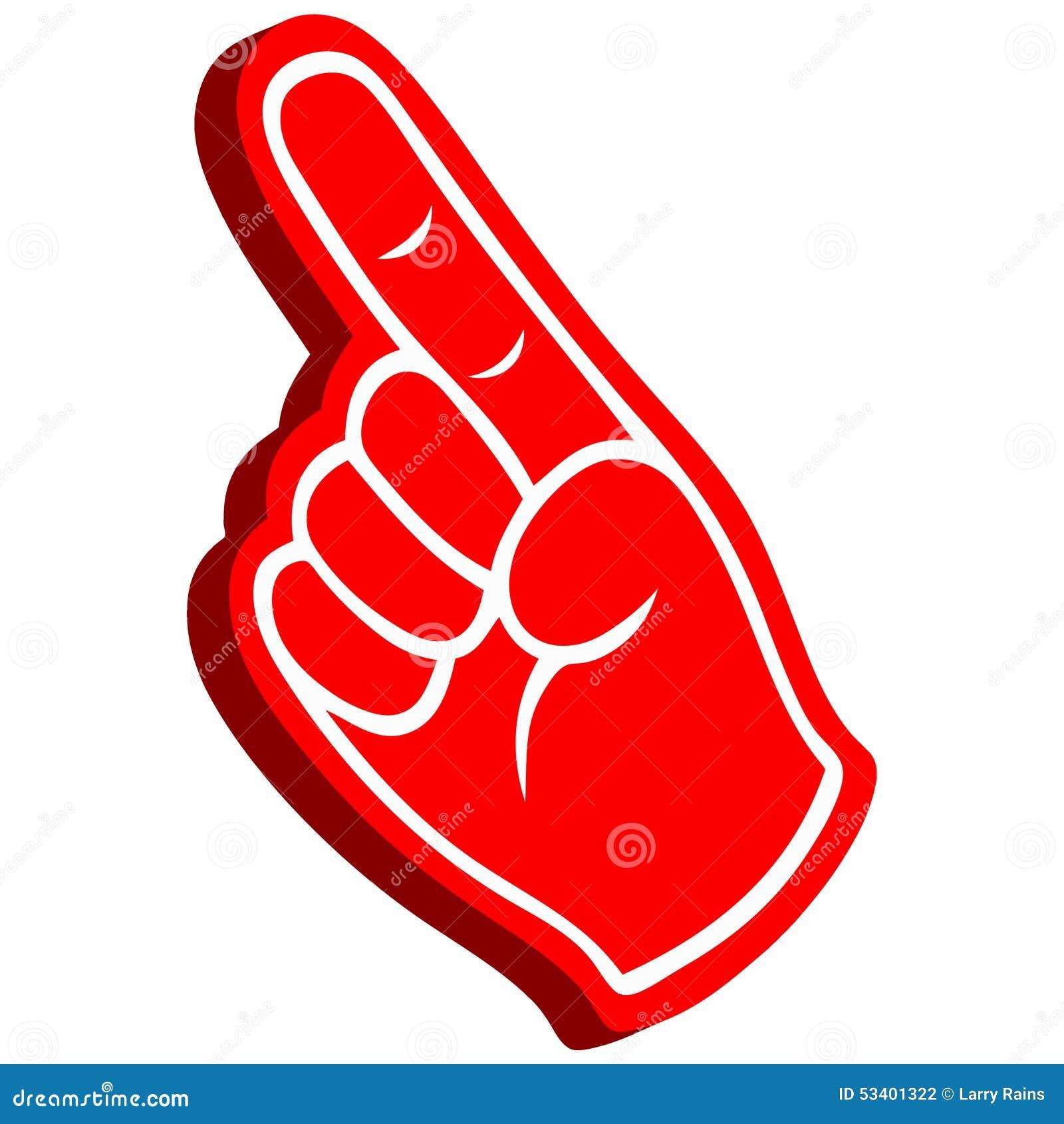 foam finger clipart. royalty-free vector. download 3d foam finger clipart