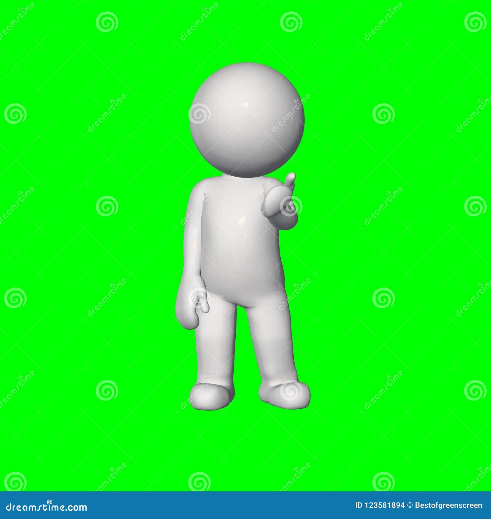 3D folk - samtal 2 - grön skärm