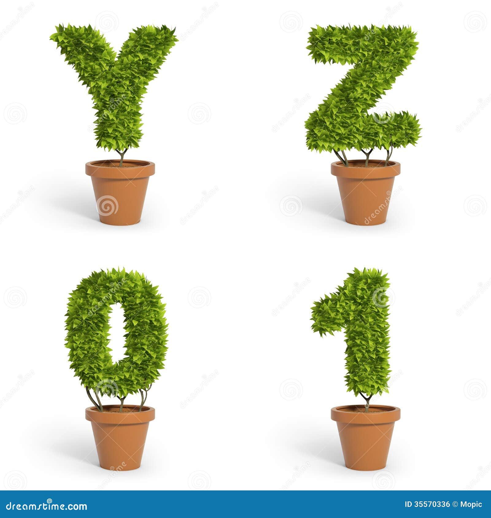 3d Font Pot Plants Royalty Free Stock Image Image 35570336
