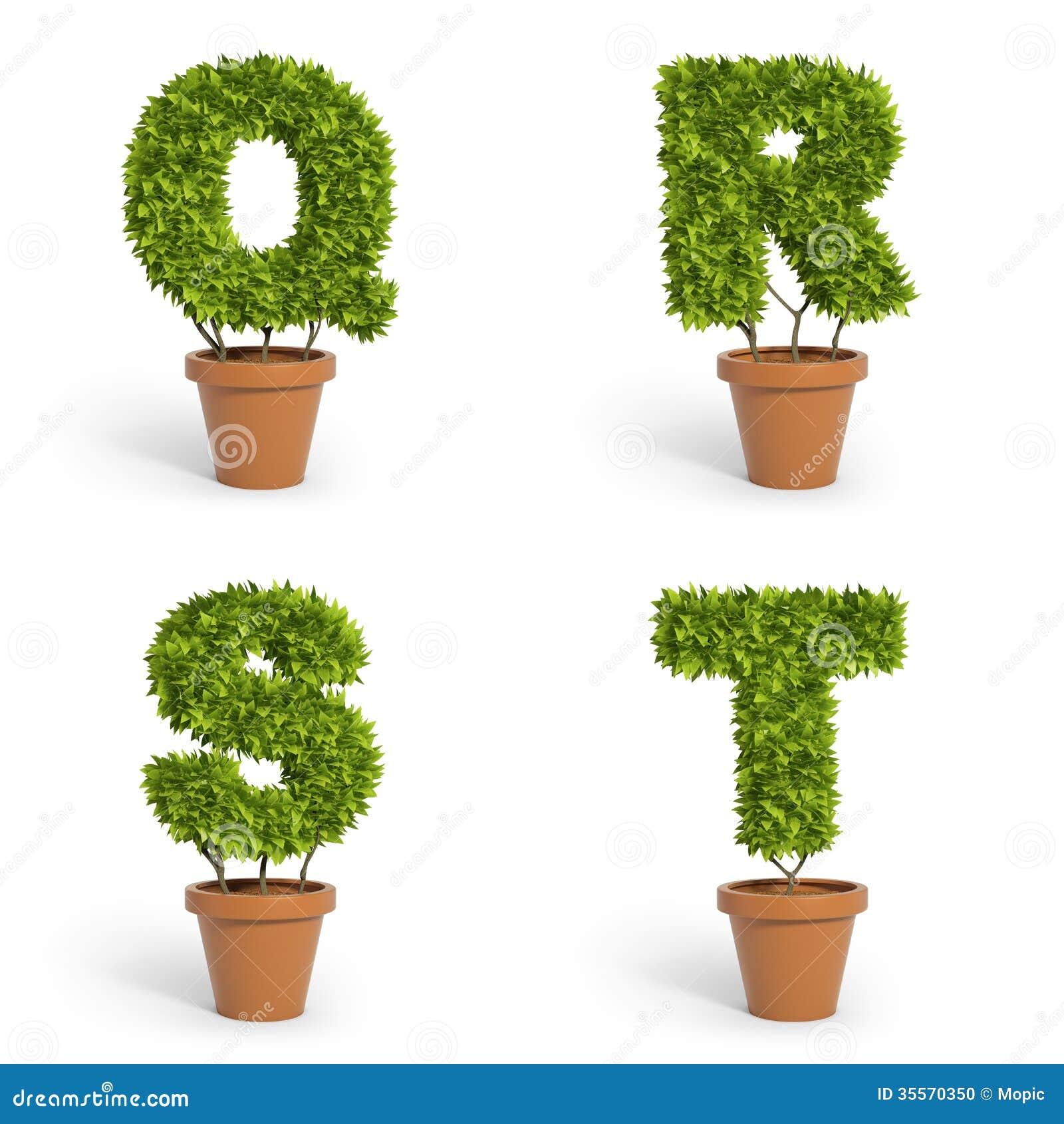 3d Font Pot Plants Stock Photo Image 35570350