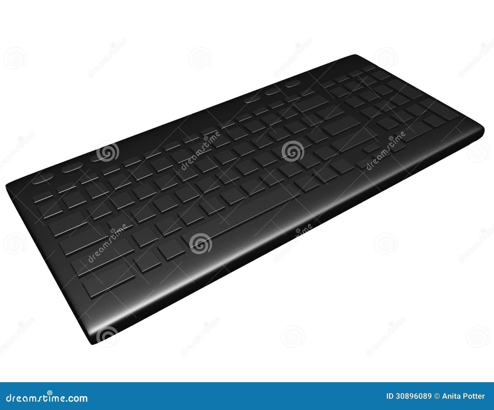 3d framför av ett tomt tangentbord