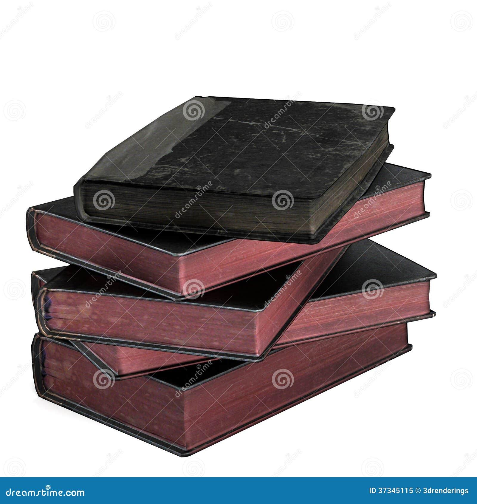 3d framför av gamla böcker