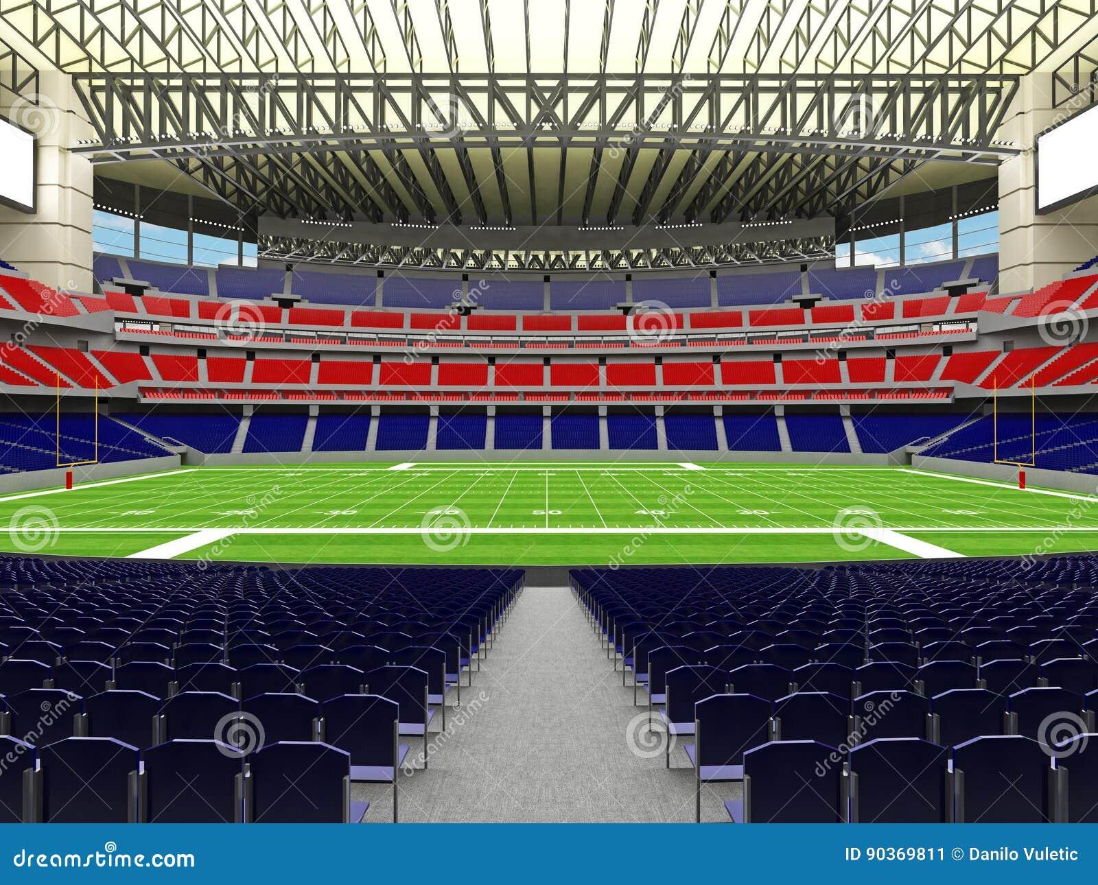3D framför av modern stadion för den toppna bunken för amerikansk fotboll lookalike - 3d framför