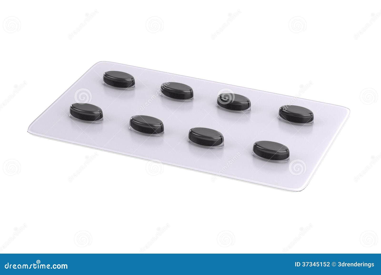 3d framför av preventivpillerplattan