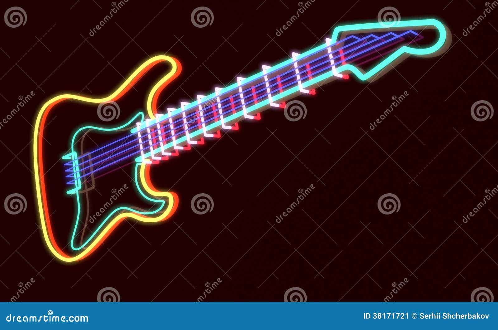3d framförde gitarren som neonlampan