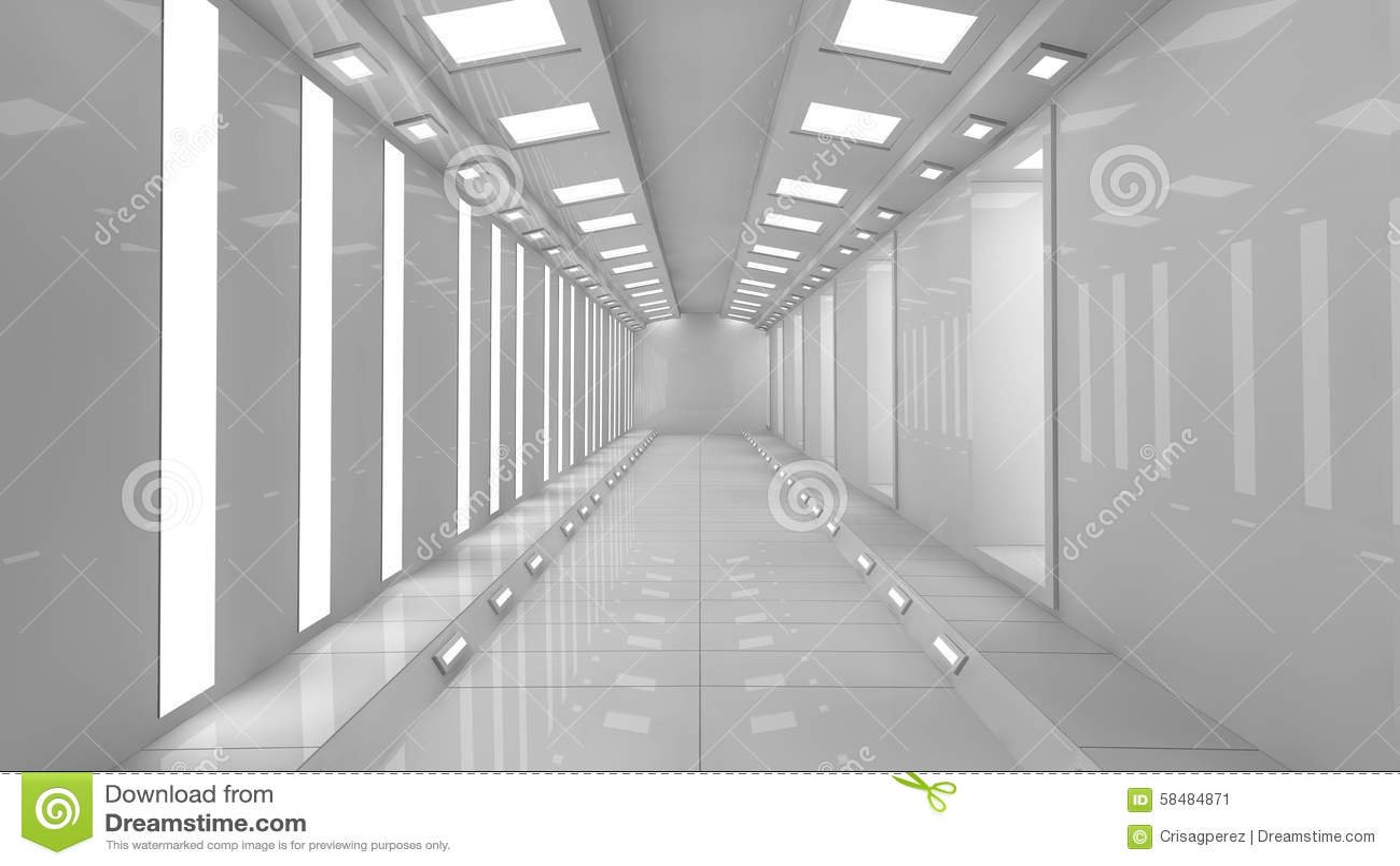 3d Futuristic Corridor Stock Illustration Image 58484871