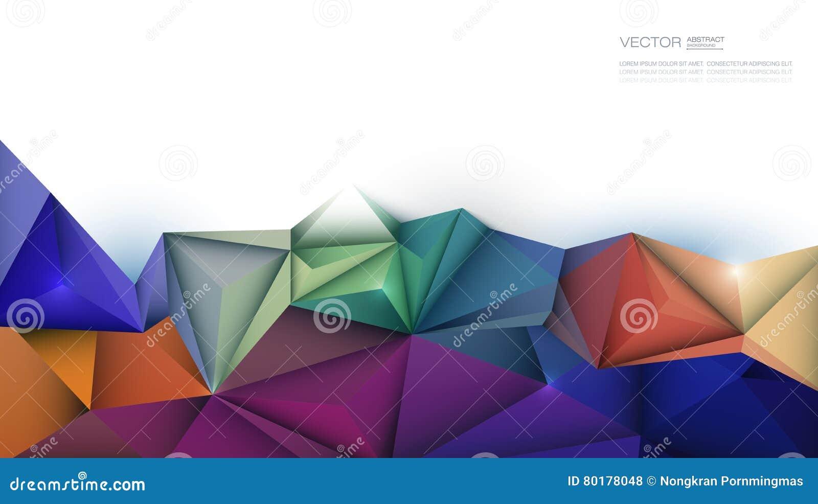 3d Géométrique Polygone Forme De Modèle De Triangle Illustration