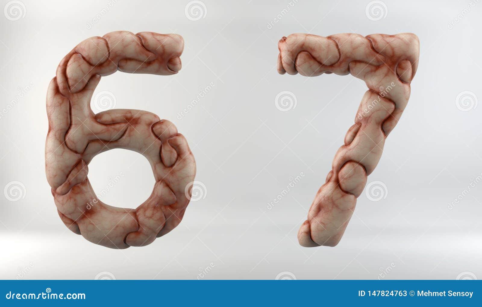 3D geef van Brain Alphabet terug