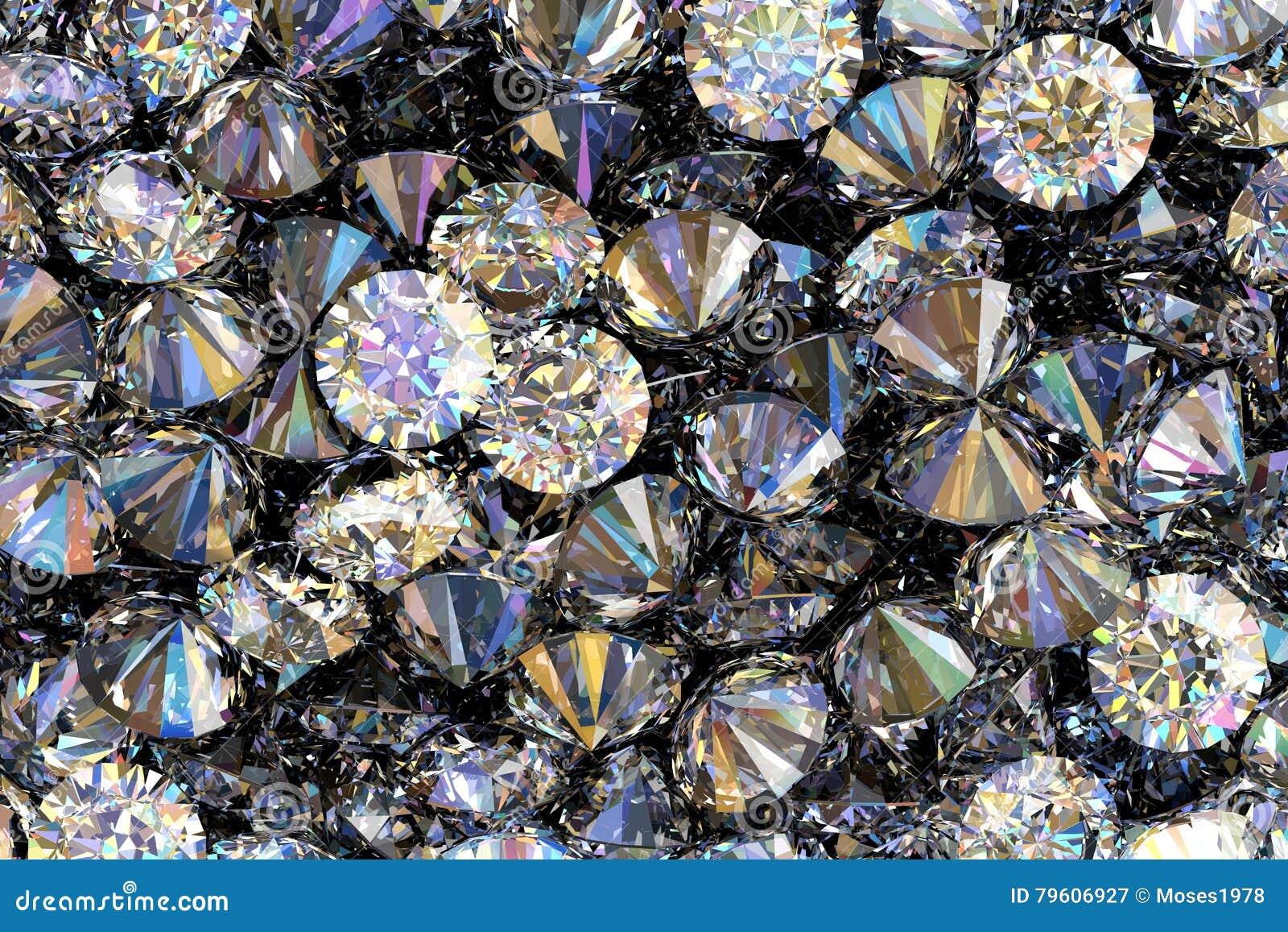 3D geef van kostbare diamanten terug