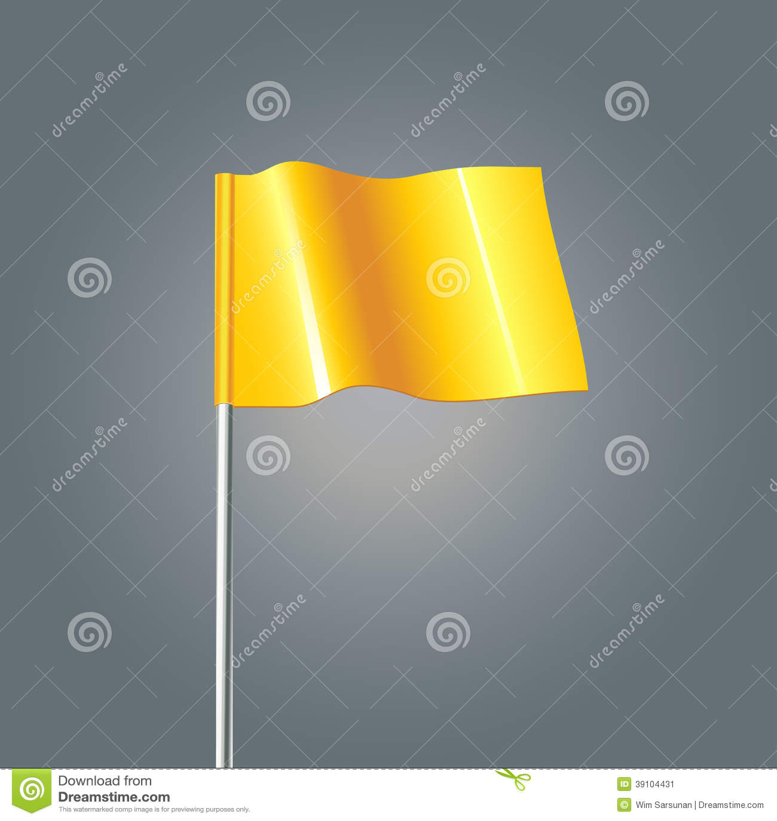 3d gele vlag