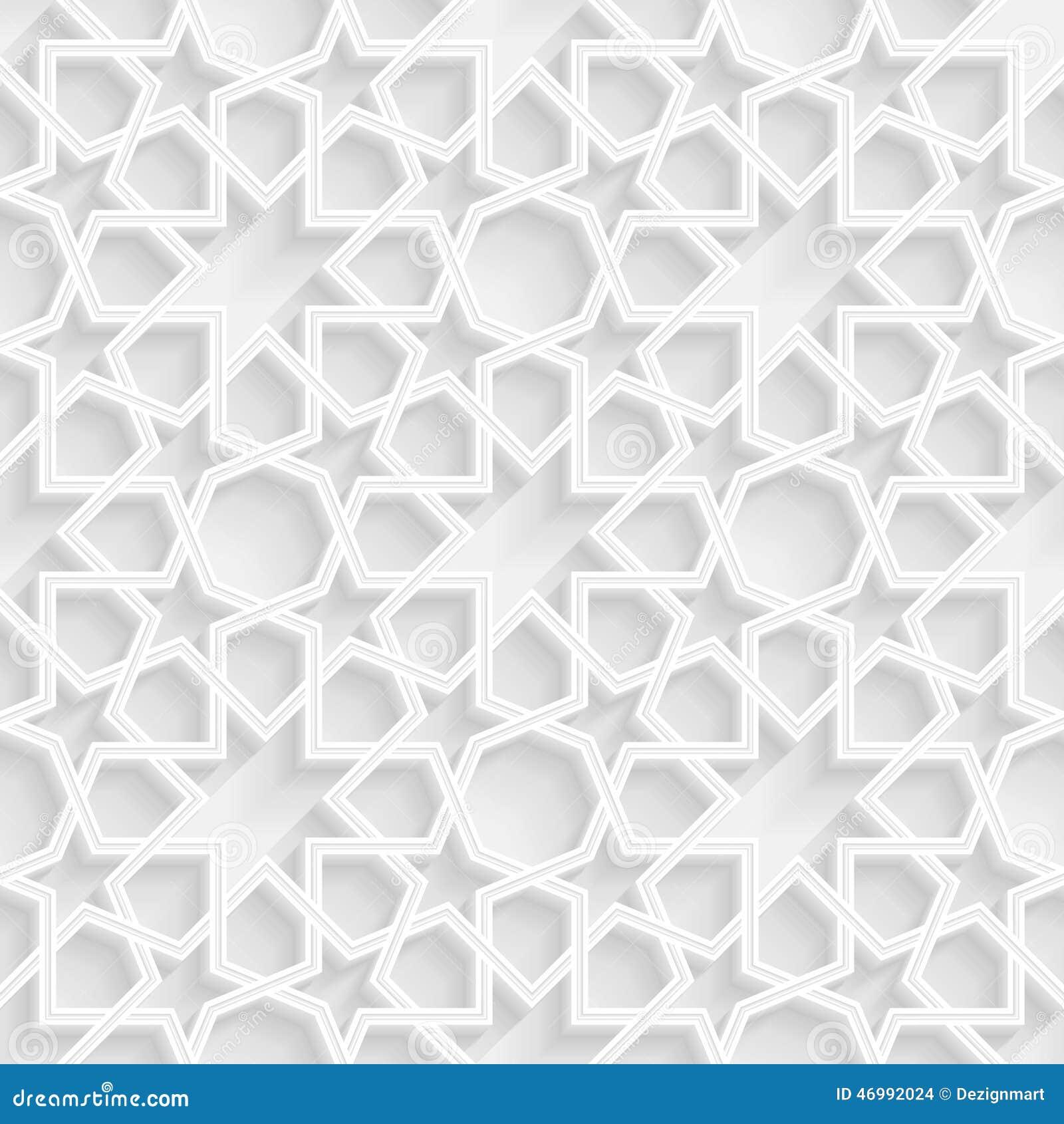 3d Geometric Star Pattern Background