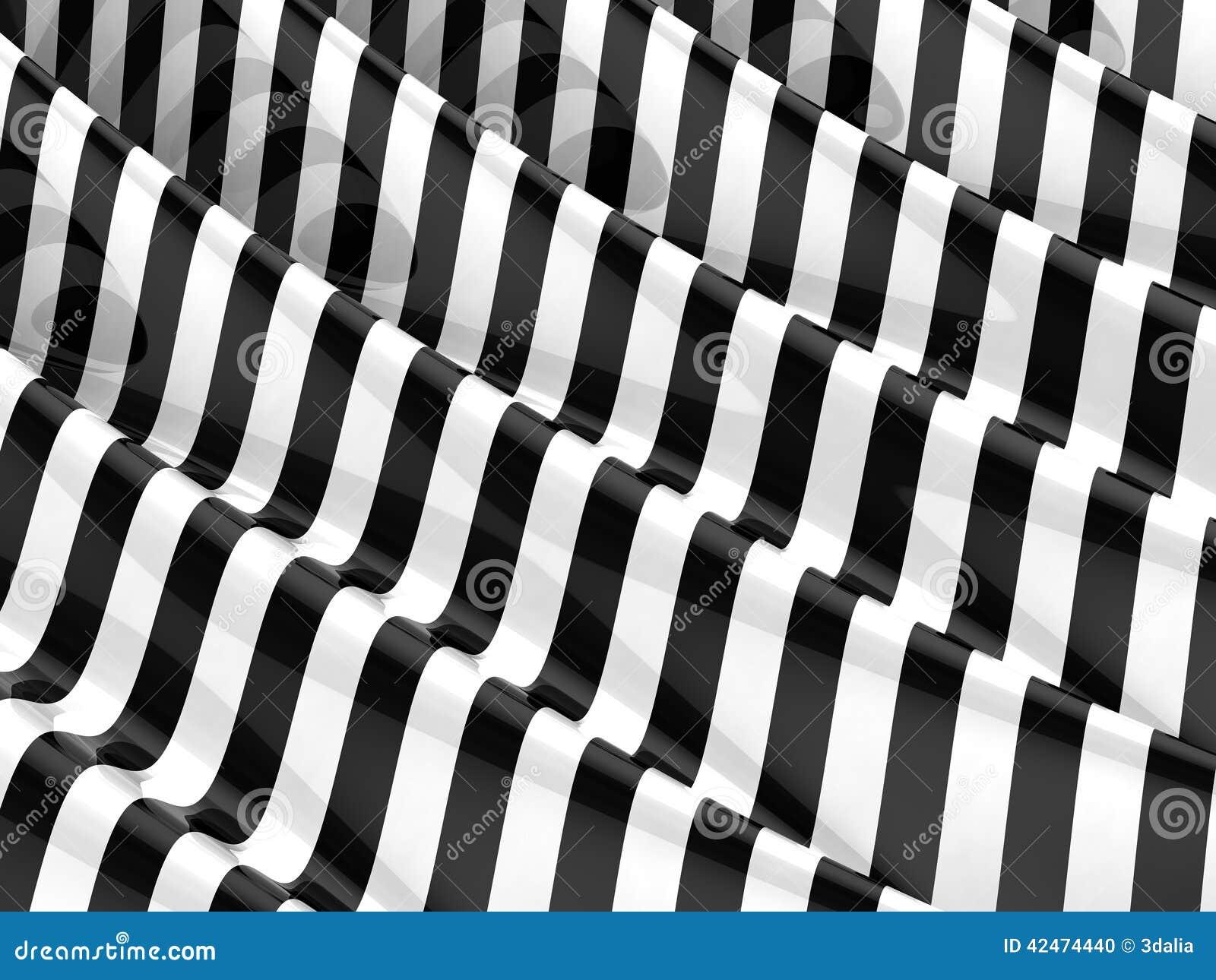 3d geplätscherte einfarbige Streifen
