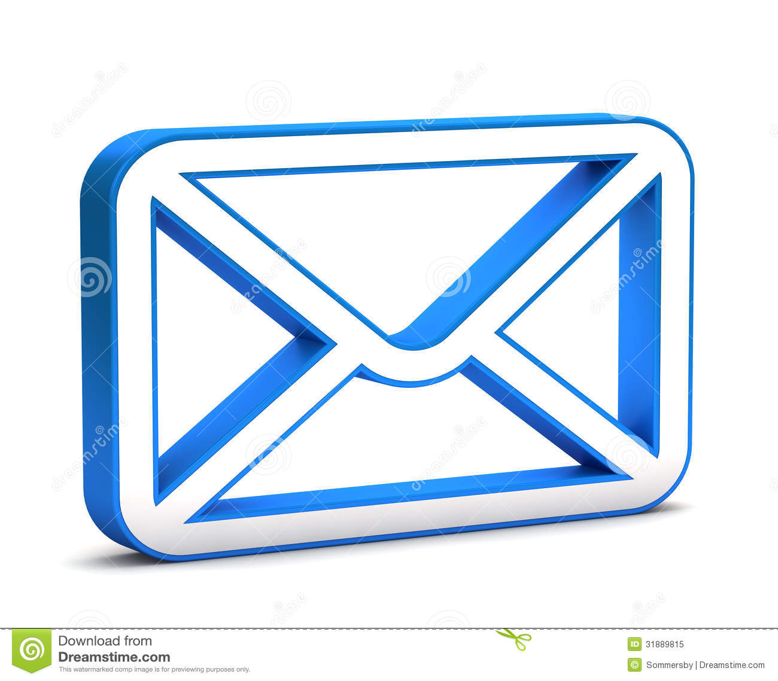 3d glanzend blauw postpictogram
