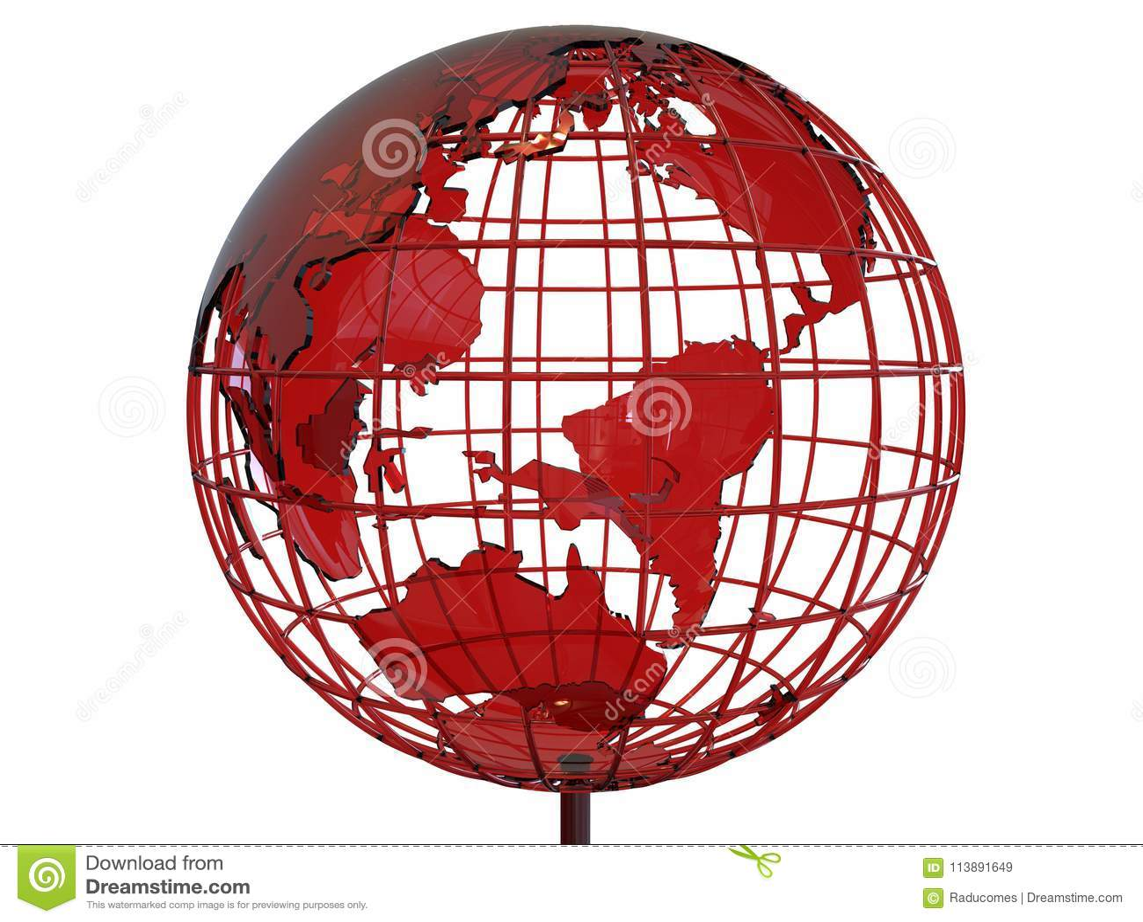 3D glass earth globe illustration