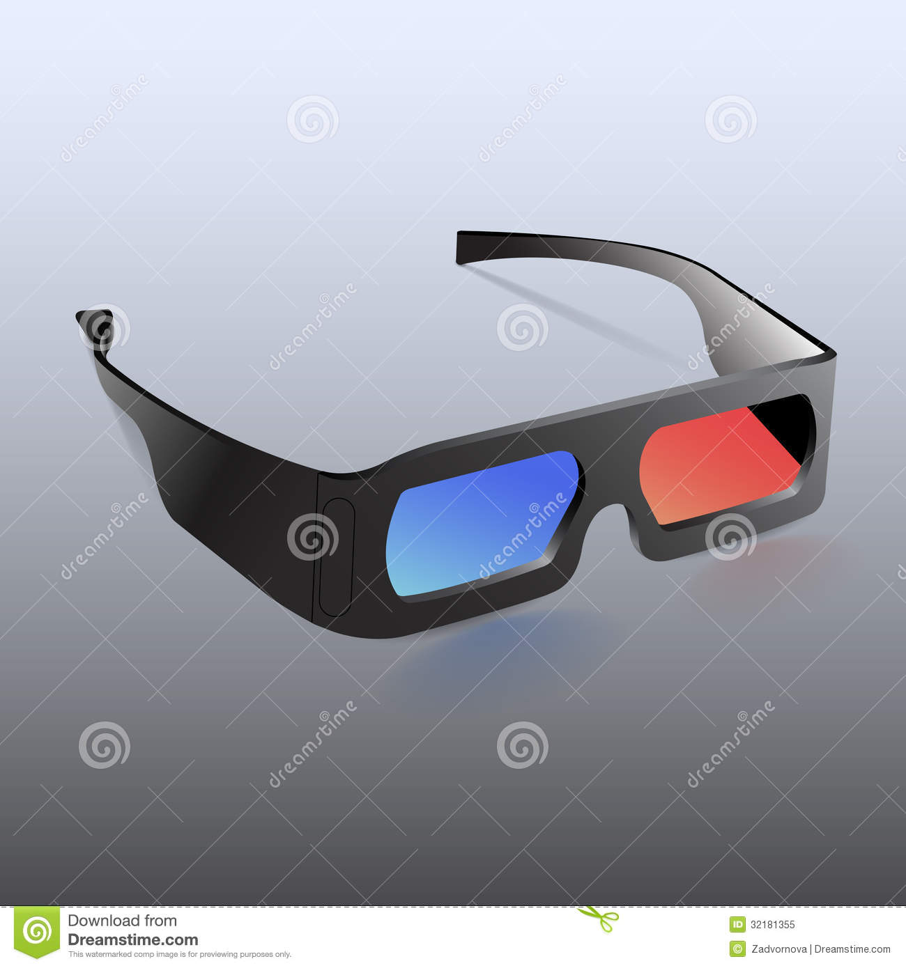 3d Glasses Royalty Free Stock Photo - Image: 32181355