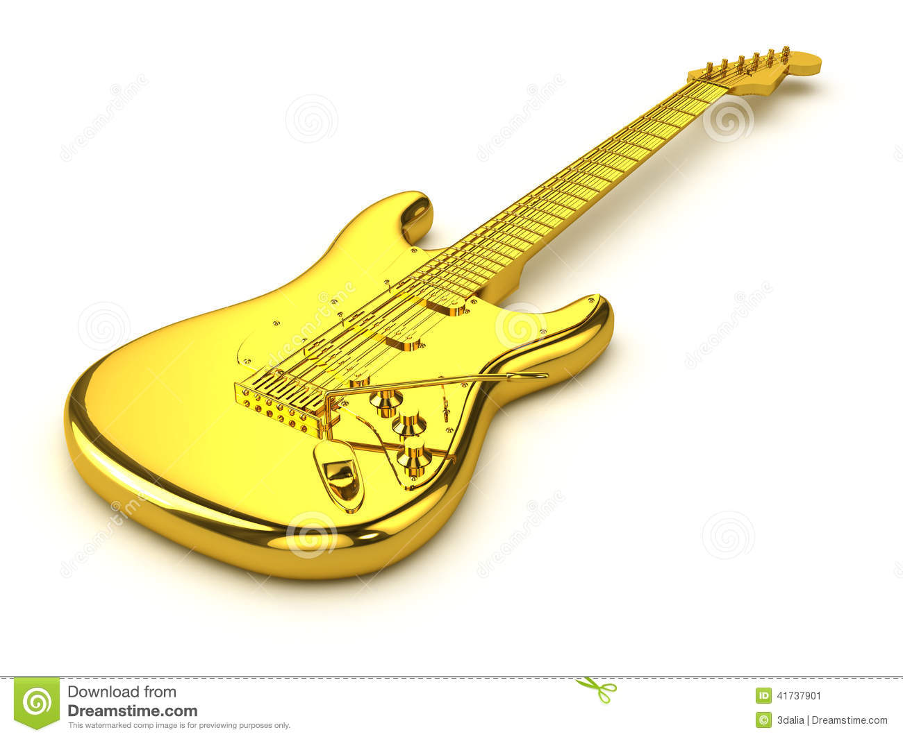 d-gold-electric-guitar-render-41737901.j