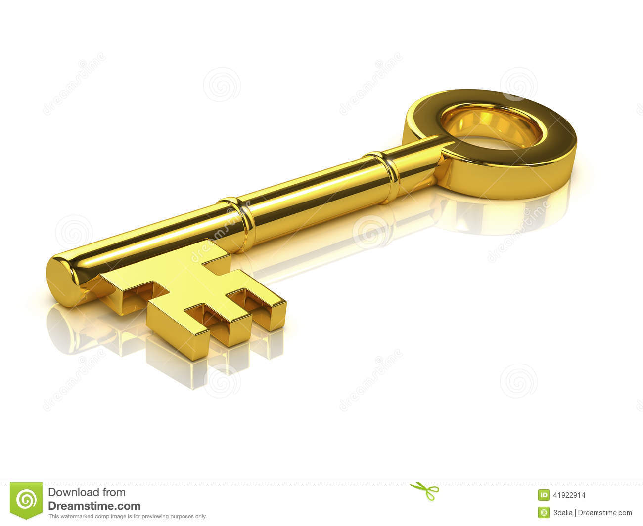 With golden key 3d rendering plan concept with golden key 3d rendering - Gold Key