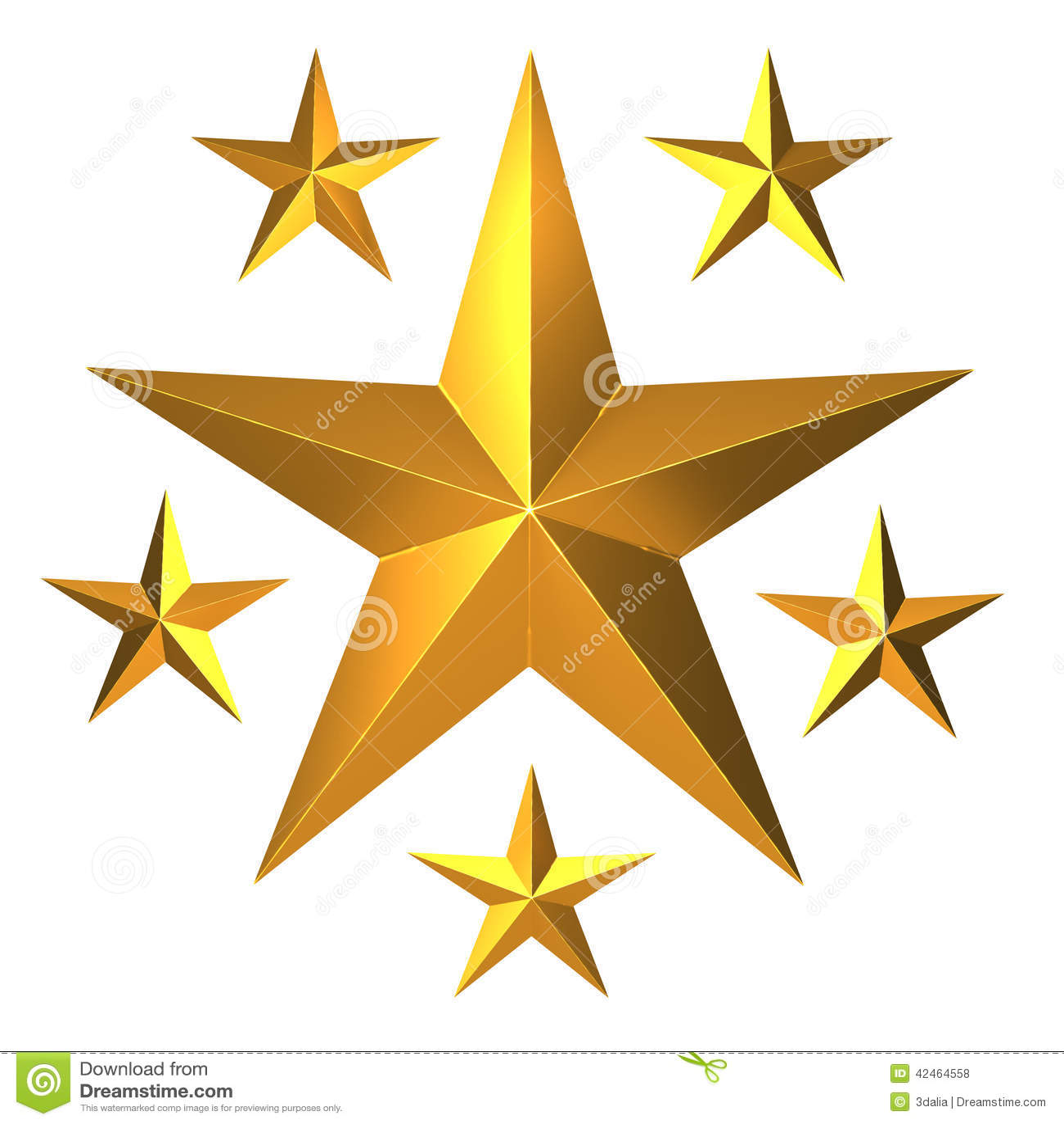3d Gold Stars Stock Illustration - Image: 42464558 - photo #20