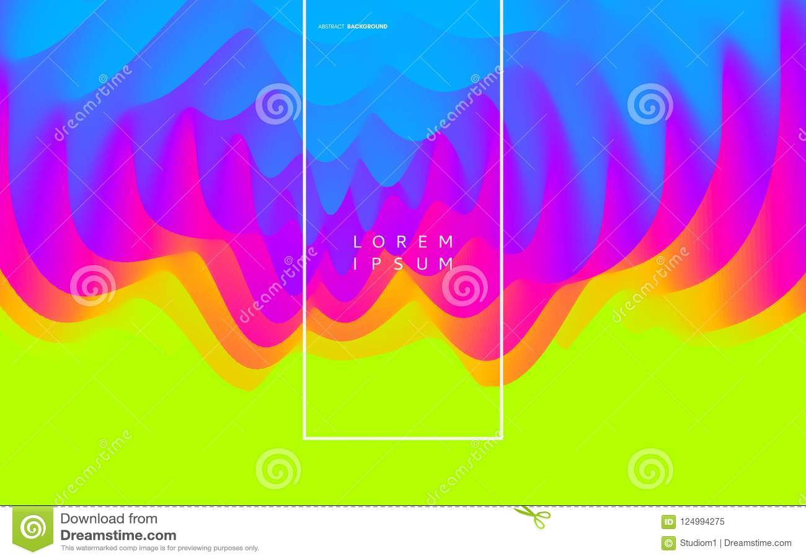 3D golvende achtergrond met rimpelingseffect abstracte vectorillustratie Het malplaatje van het ontwerp