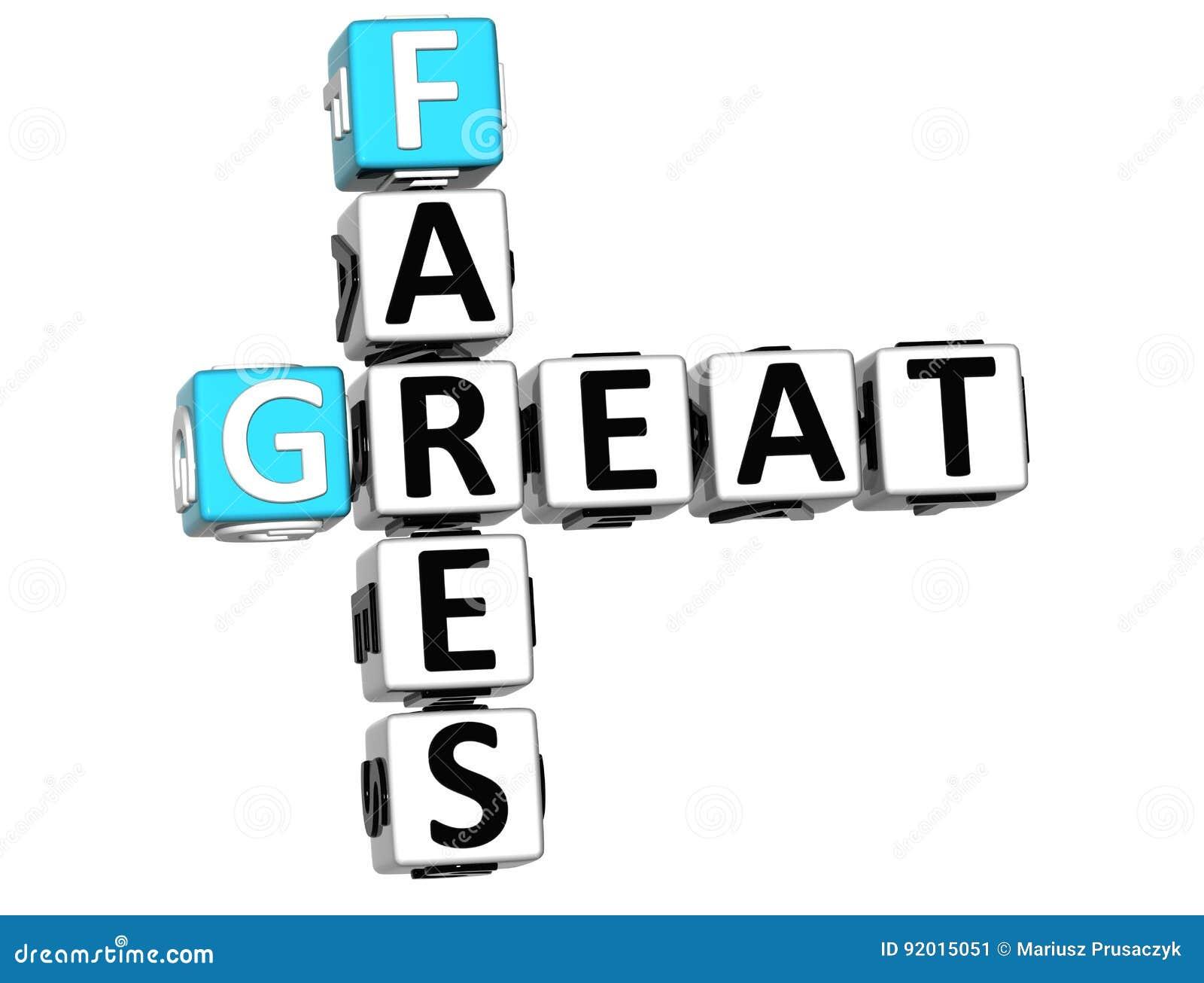 3D grand Fares Crossword