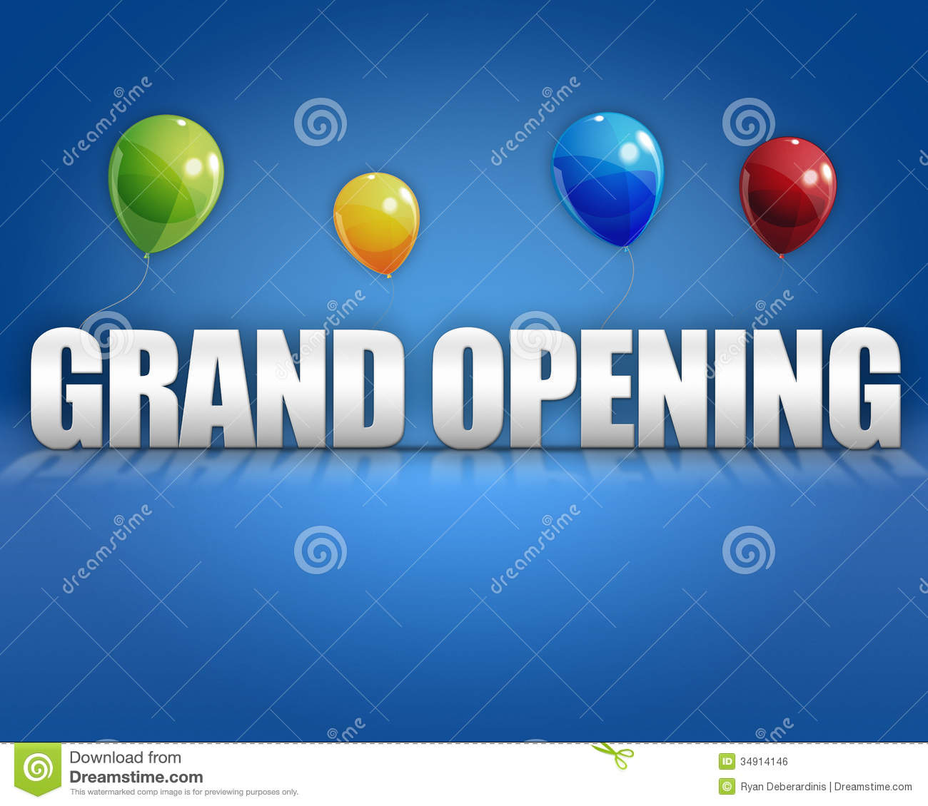3d Grand Opening Balloons Background Royalty Free Stock Image - Image ...