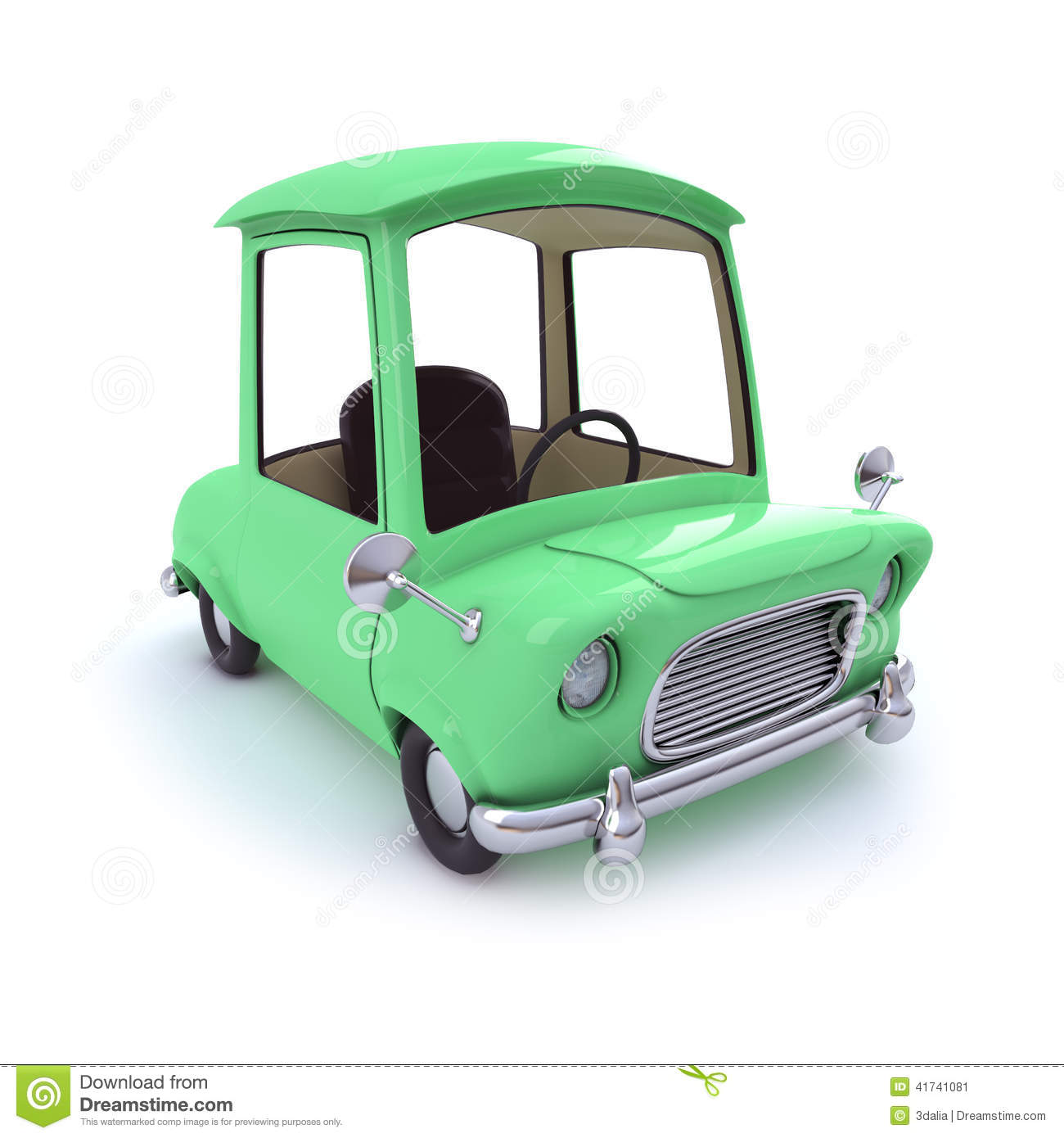 3d Green Cartoon Car Stock Illustration Illustration Of Vehicle
