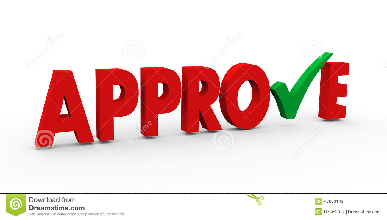 3d Green Check Mark Approve Stock Illustration - Image: 47070193