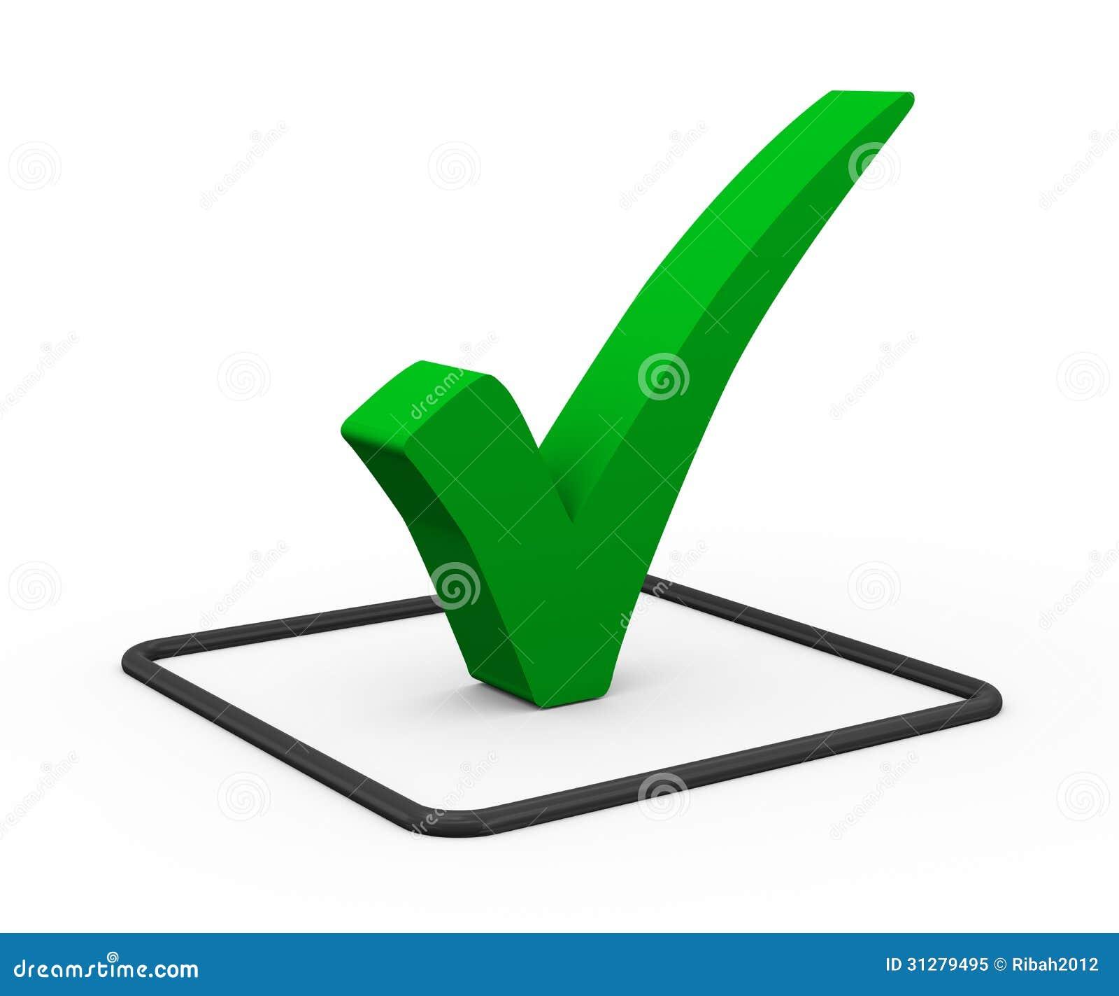 No Credit Check Credit Cards >> 3d Green Check Mark Royalty Free Stock Photo - Image: 31279495