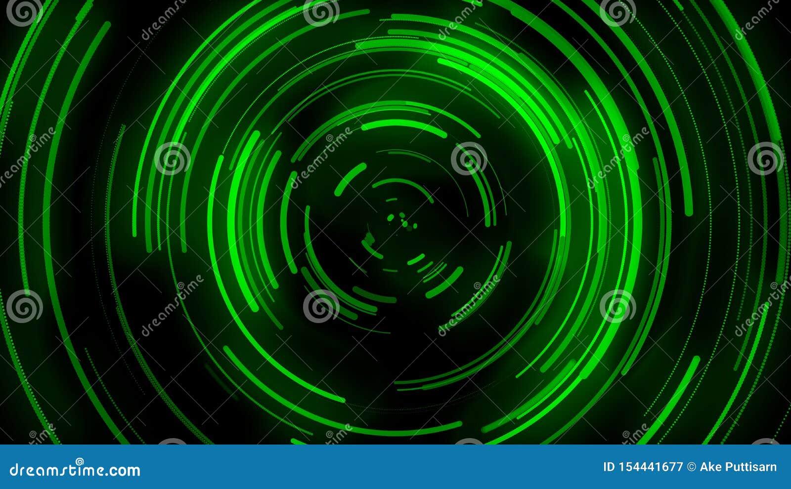 3D ha animato il fondo, il movimento della curva verde, la curva si distribuisce, trasmissione del segnale, immagine di straripam