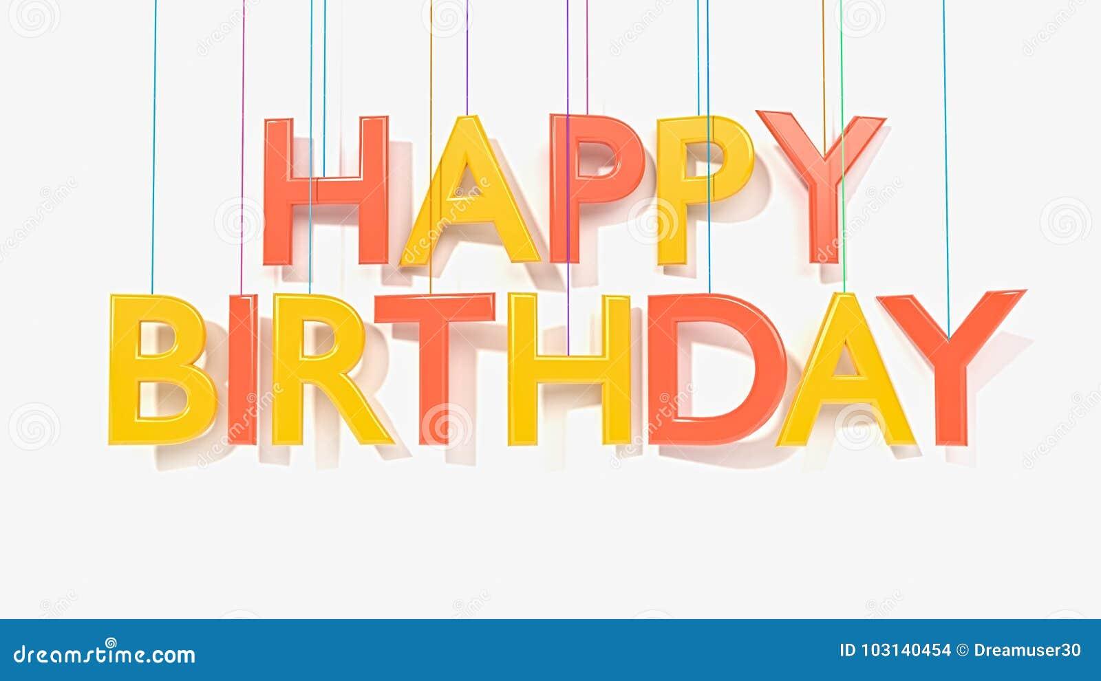 3d ha reso il testo di buon compleanno