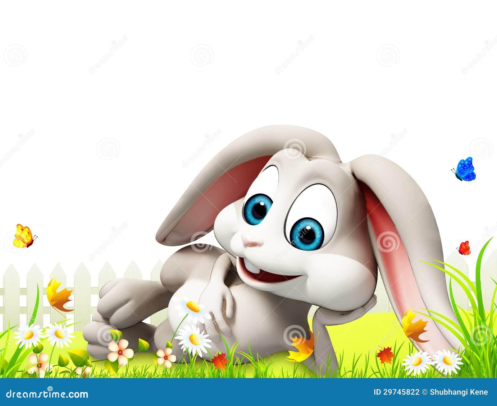 Coniglietto di pasqua che dorme dentro il giardino - Lettere stampabili del coniglietto di pasqua ...