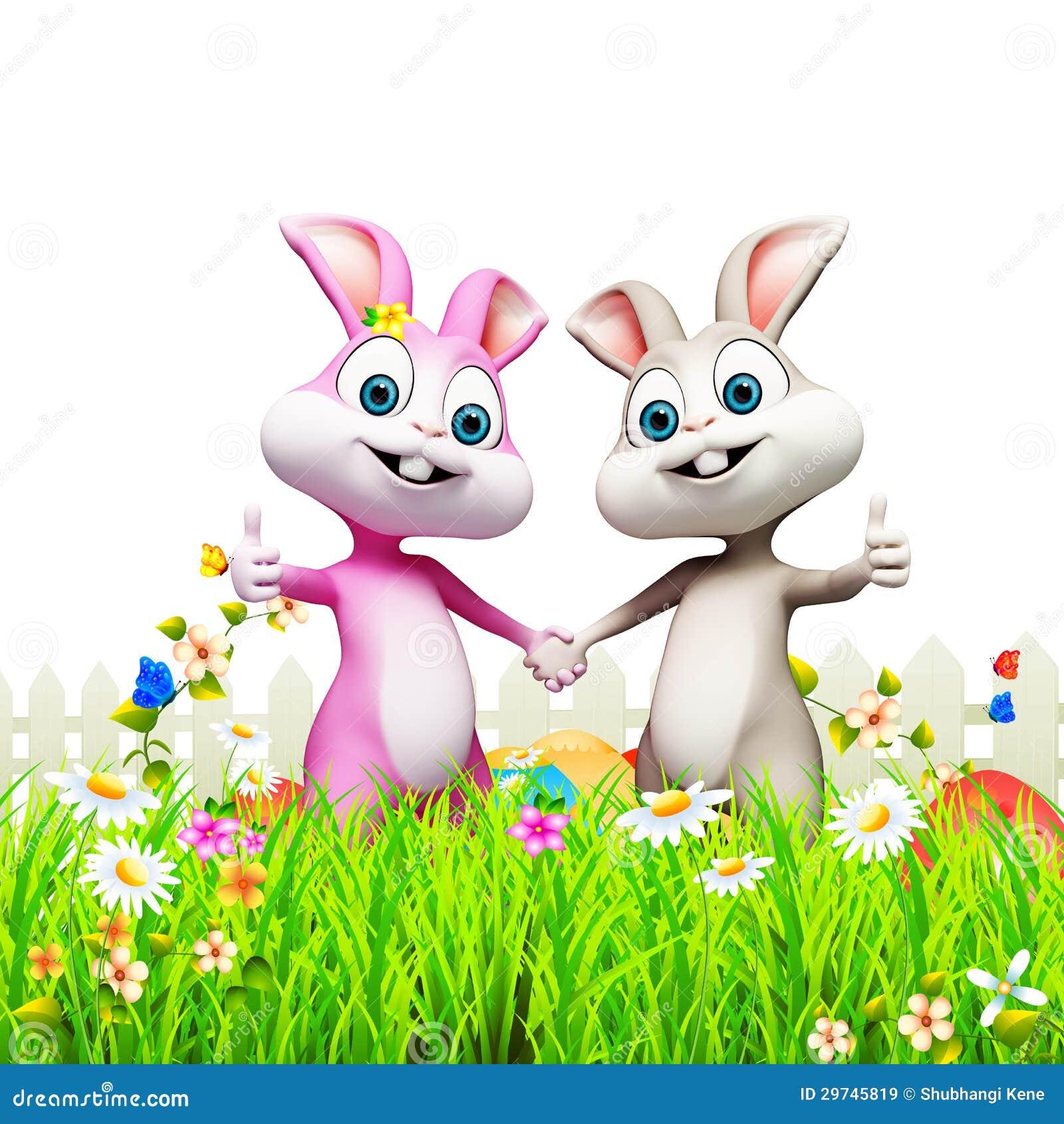 Coniglietto di pasqua dentro il giardino con le uova - Lettere stampabili del coniglietto di pasqua ...